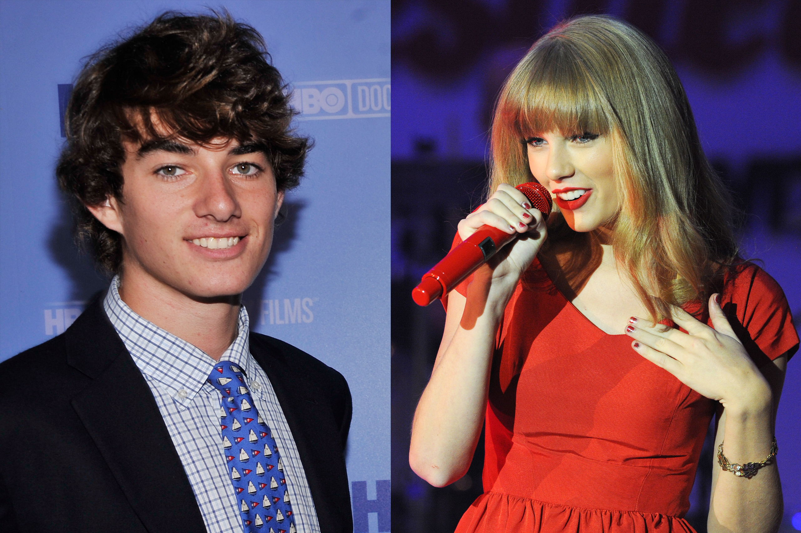 Taylor Swift performs at the switch on of the 2012 Christmas lights at Westfield in London on Nov. 6, 2012; Conor Kennedy attends the  Ethel  New York Premiere at the Time Warner Center in New York on Oct. 15, 2012.