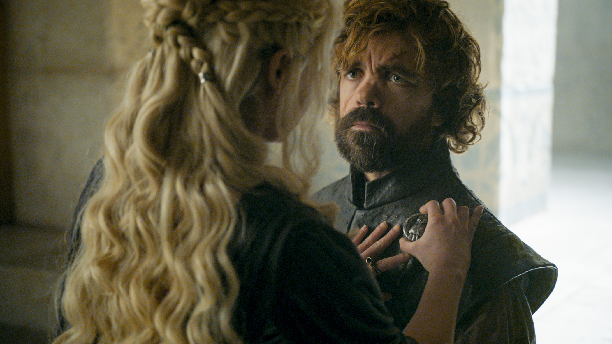 Emilia Clarke and Peter Dinklage on Game of Thrones