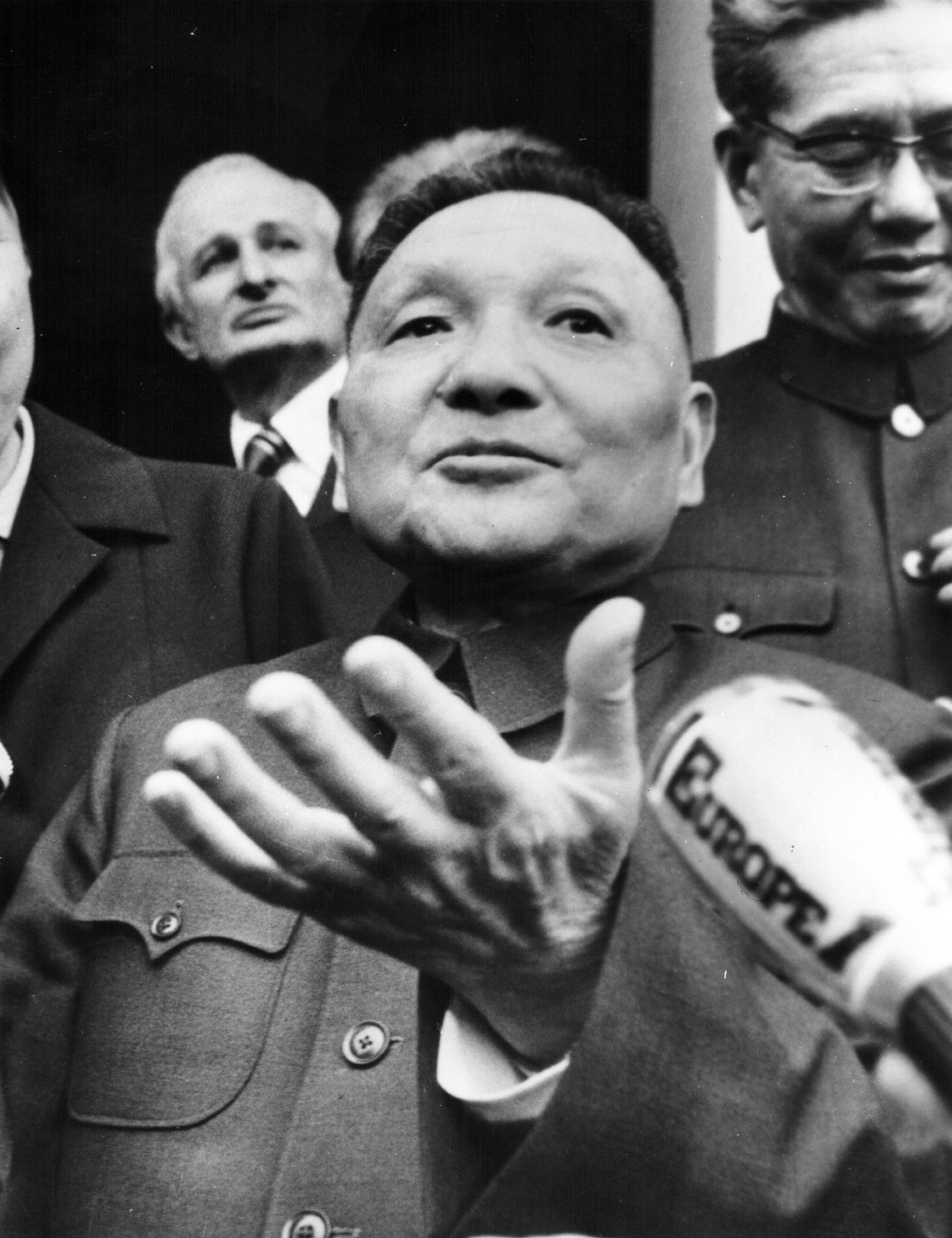 Vice Premier of China Deng Xiaoping during a visit to Paris, January 9th 1976.