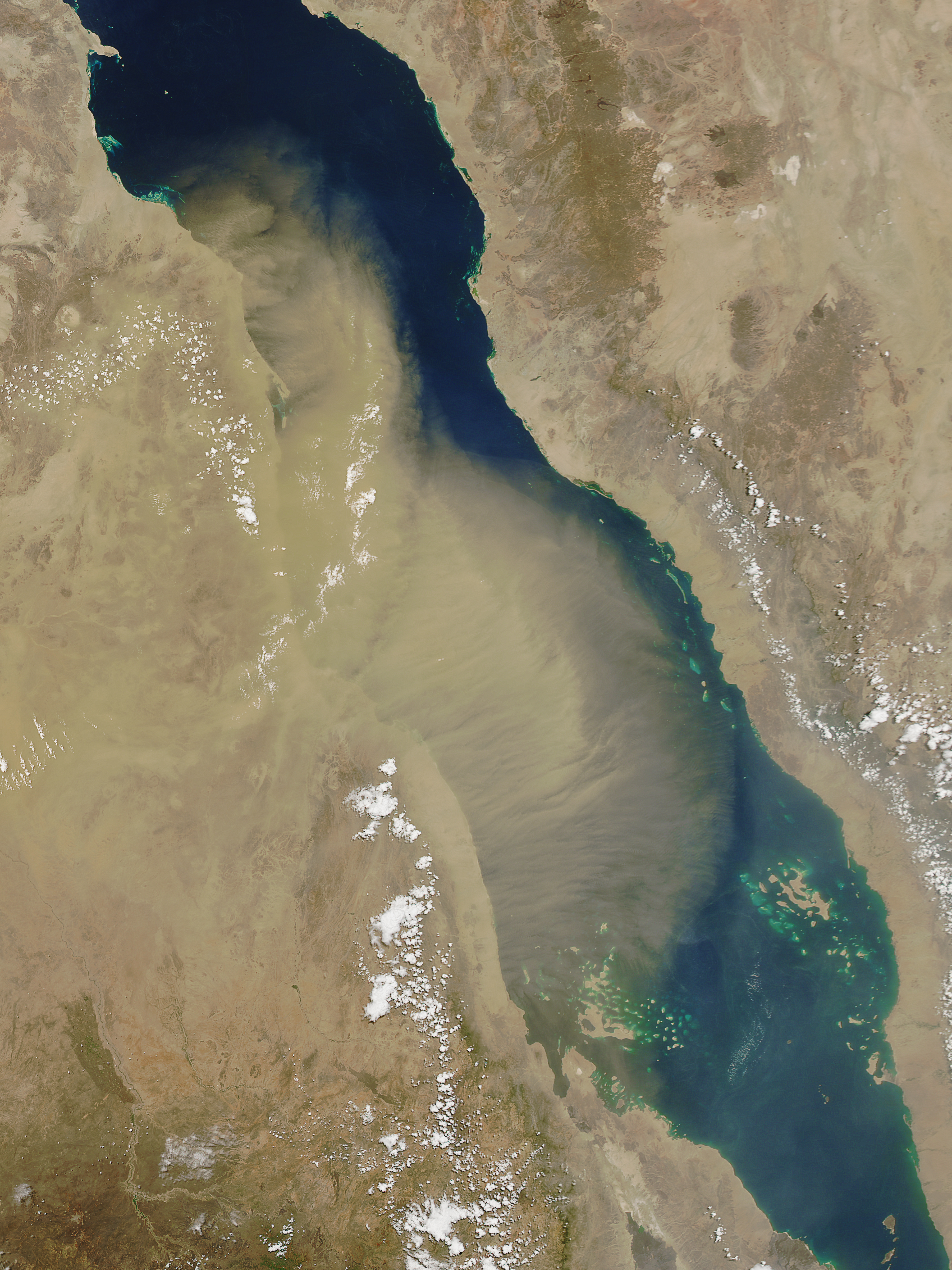 Dust over the Red Sea on June 15, 2016.