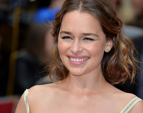 Emilia Clarke attends the European film premiere 'Me Before You' at The Curzon Mayfair in London,  on May 25, 2016.