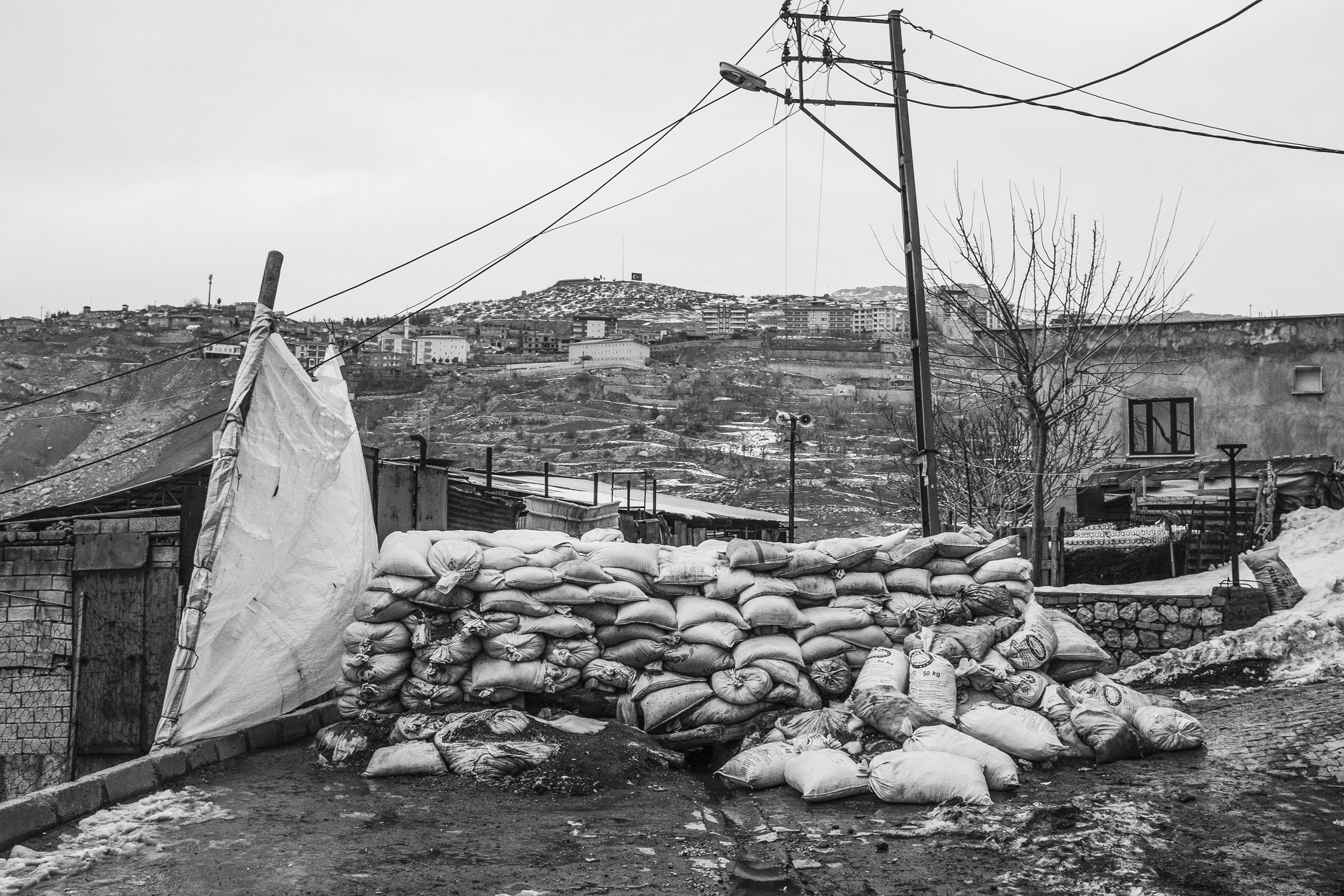 A barricade built by members of the Revolutionary Patriot Youth Movement (YDG-H), Sirnak, Turkey, Jan. 2016.