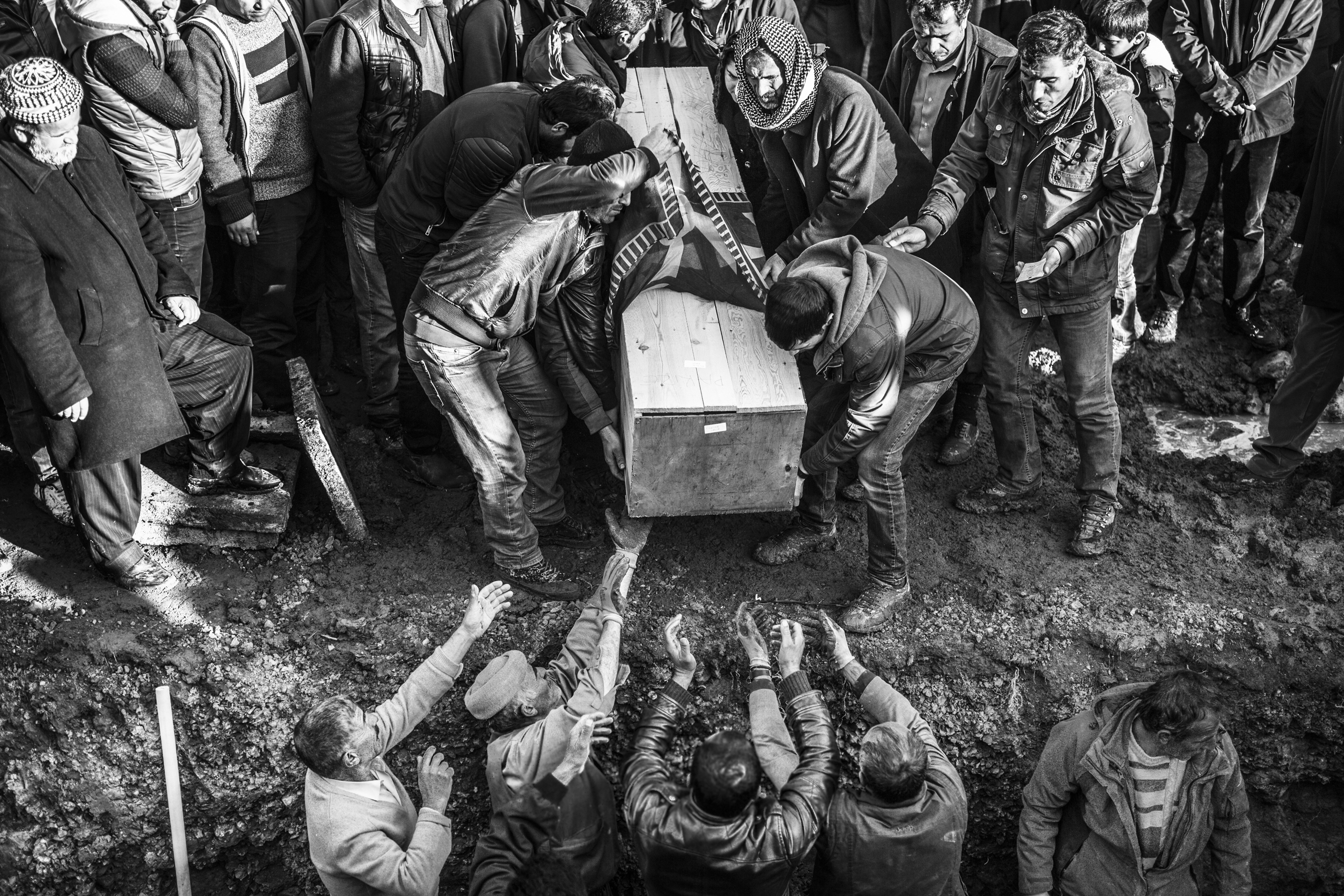 A funeral for a  victim of clashes between PKK and Turkish special forces                                in the Kurdish-dominated southeast of Turkey,  Jan. 2016.