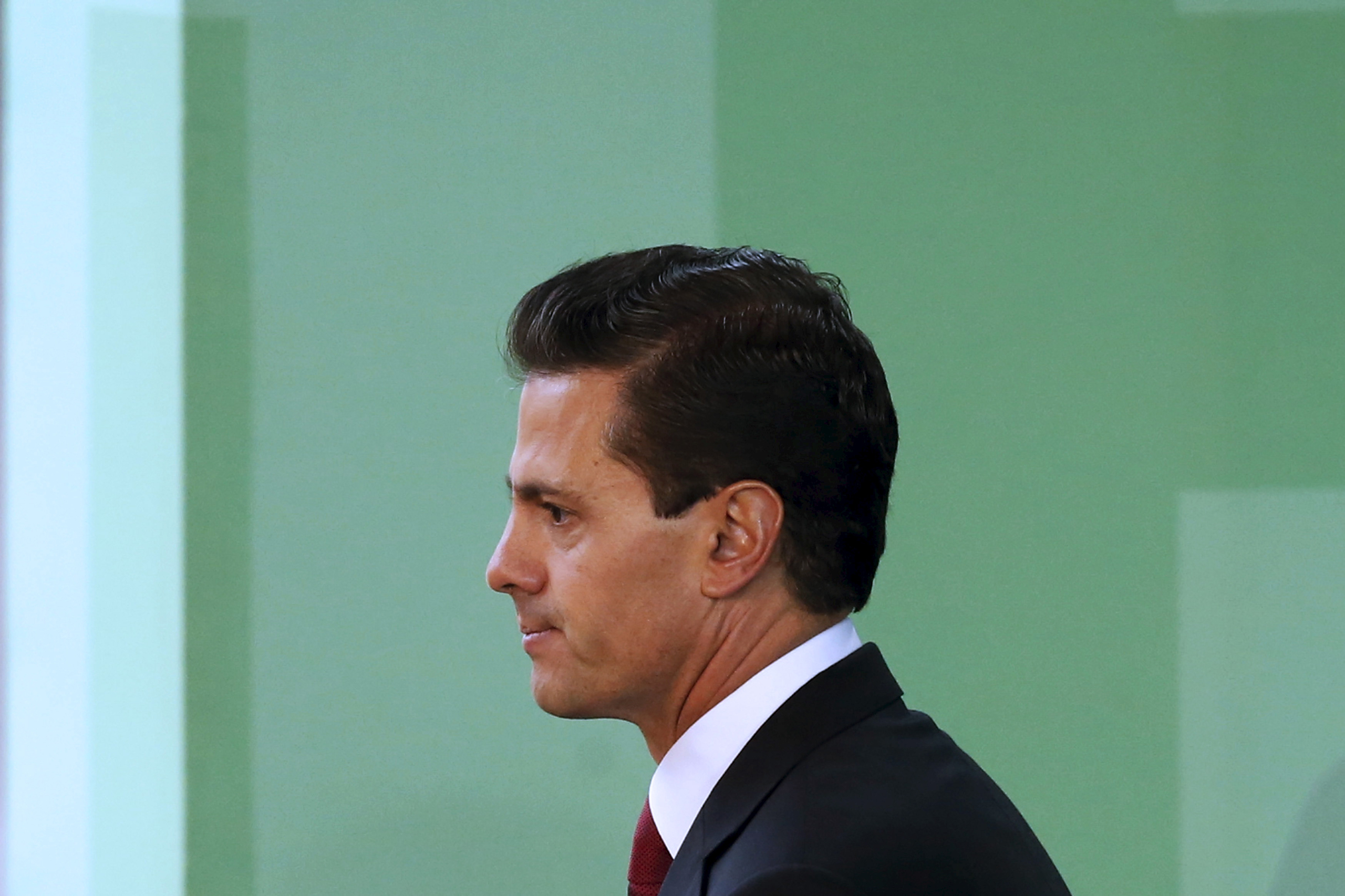 Mexico's President Enrique Pena Nieto seen during an announcement in Mexico City on April 21, 2016.