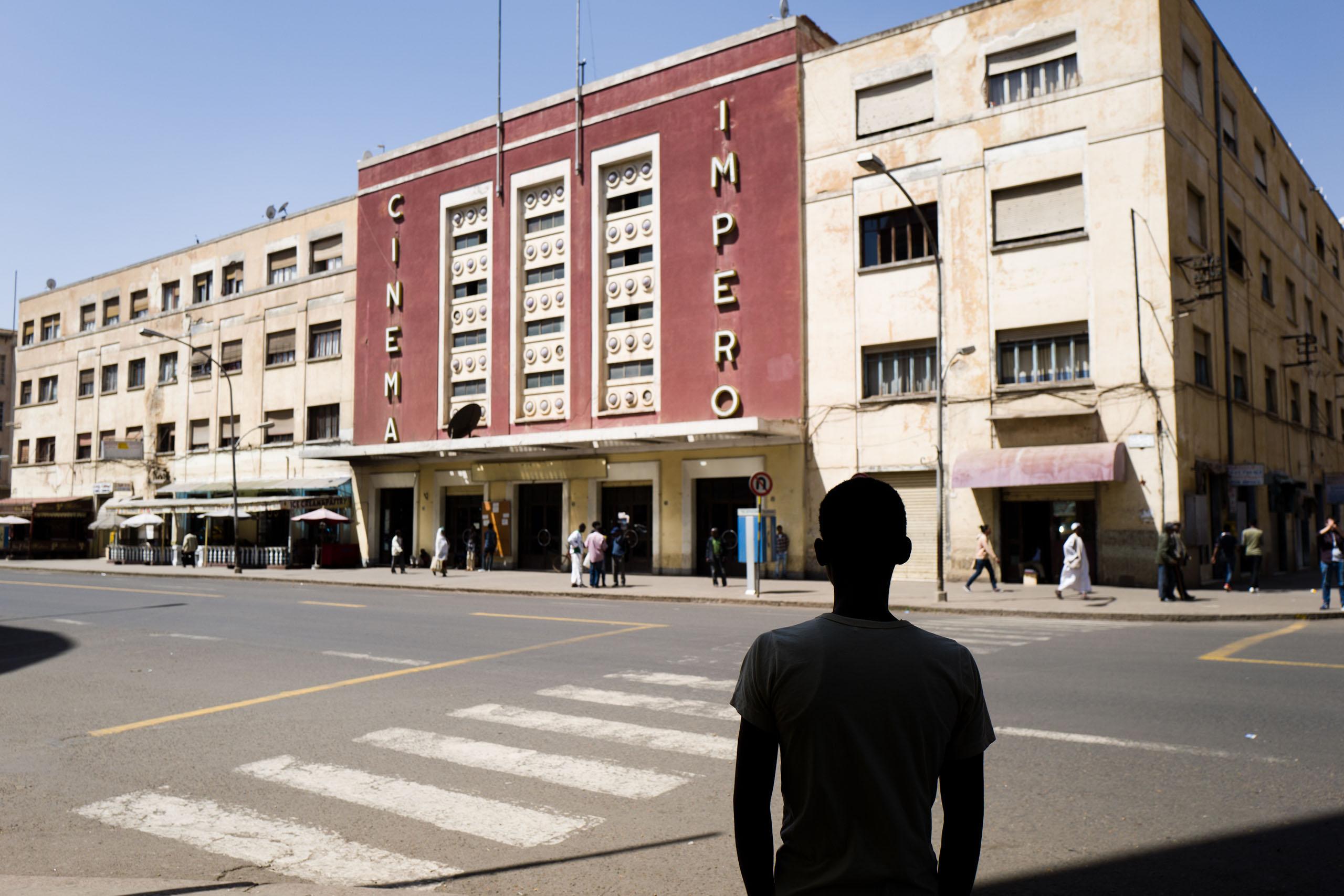 Cinema Impero, an art deco-style cinema in Asmara, Eritrea 2016.