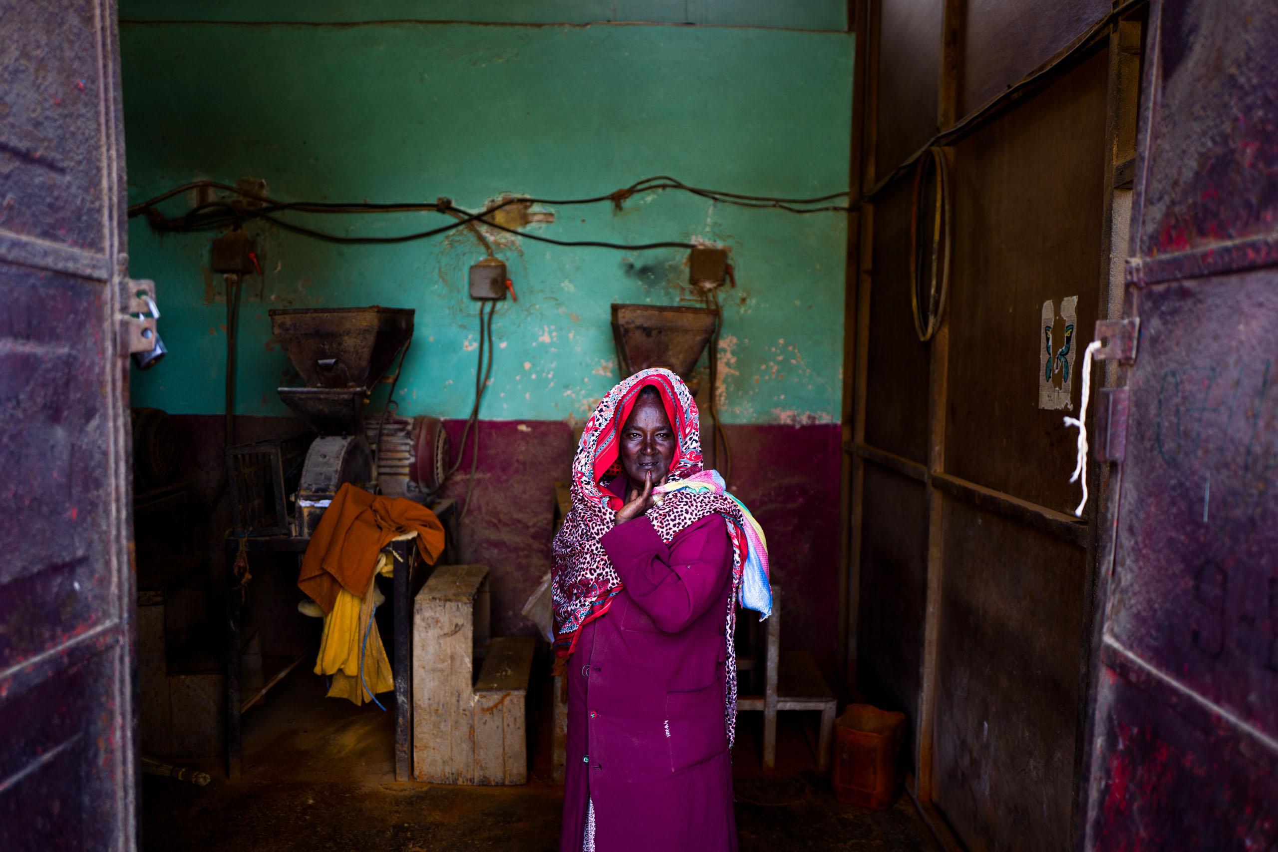 A woman at the market in Asmara.