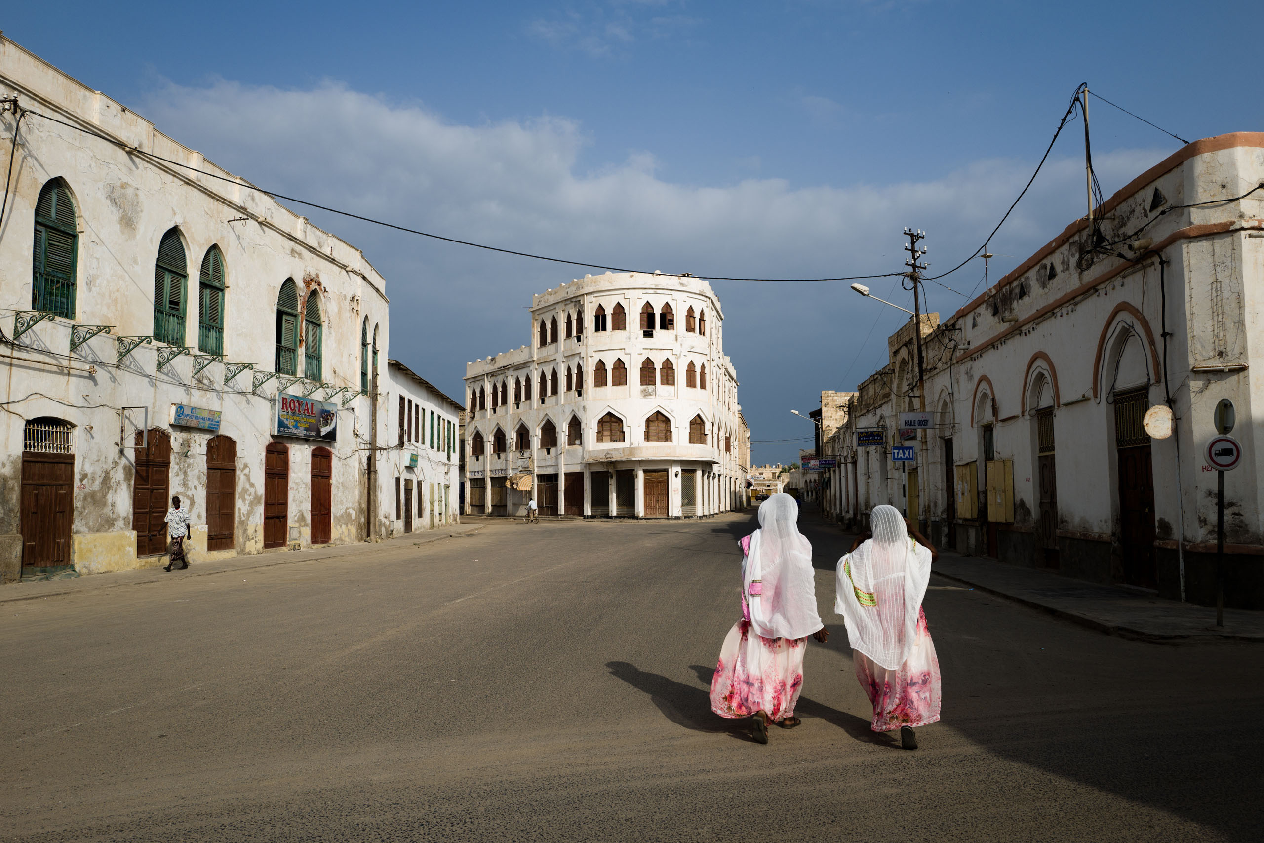 The Hotel Torino, in the old section of the city of Massawa.