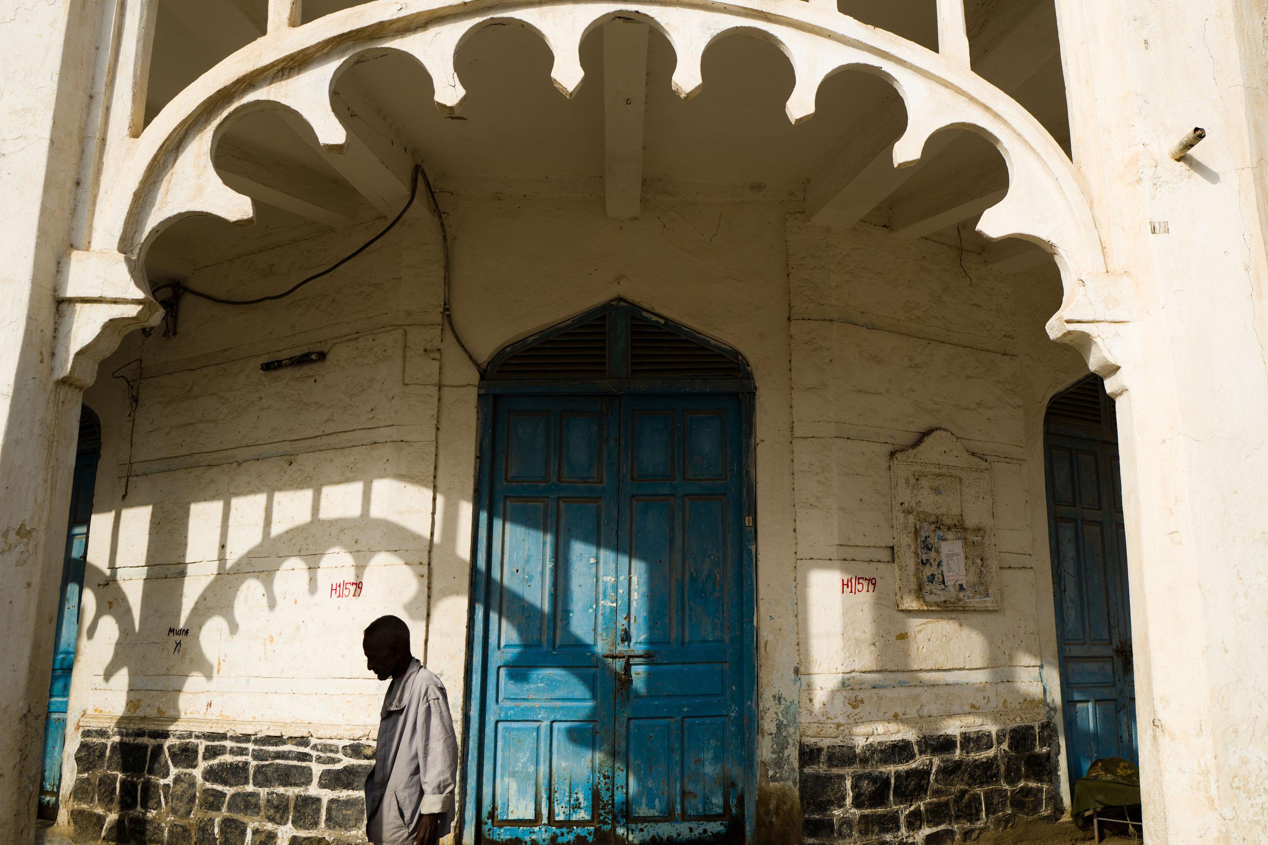 A man on a street in Massawa.