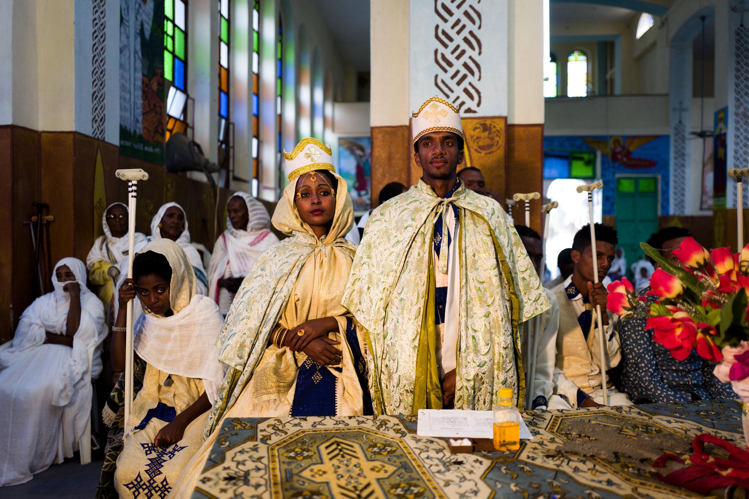 A wedding ceremony at an Orthodox Church in Massawa.