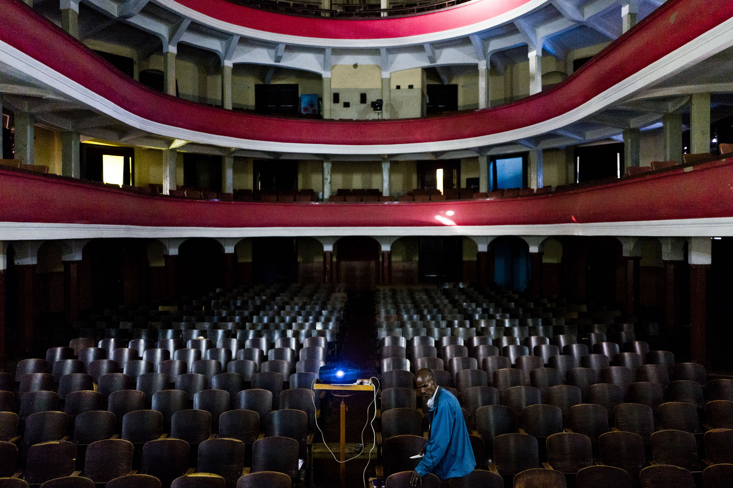 Interior of Asmara's Opera house.