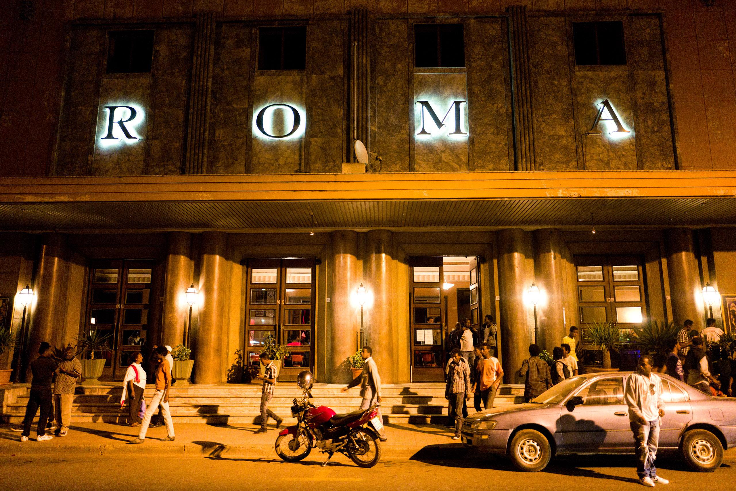 Exterior of the Cinema Roma, in Asmara.