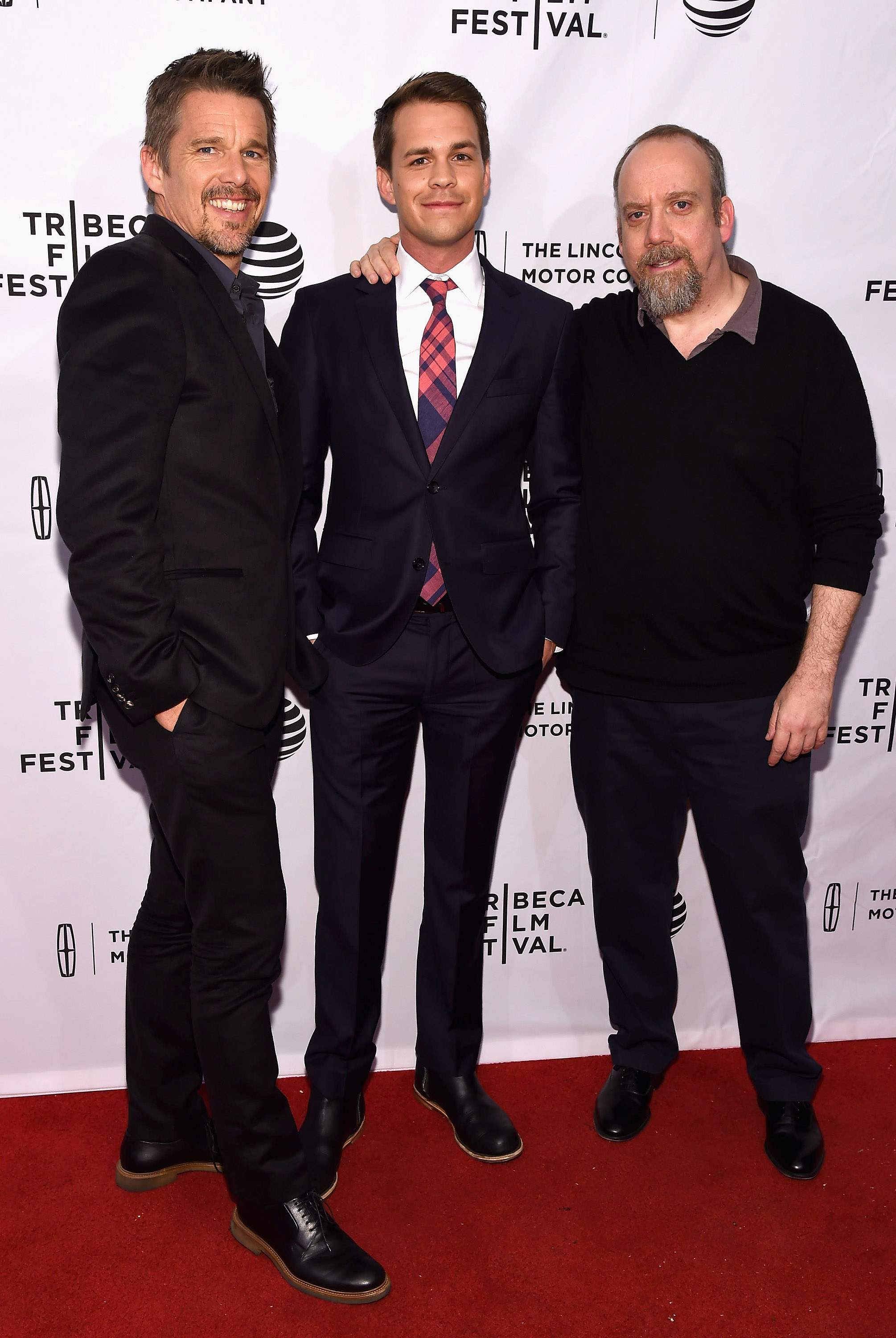 Ethan Hawke, Johnny Simmons and Paul Giamatti during the 2016 Tribeca Film Festival on April 17, 2016 in New York City.