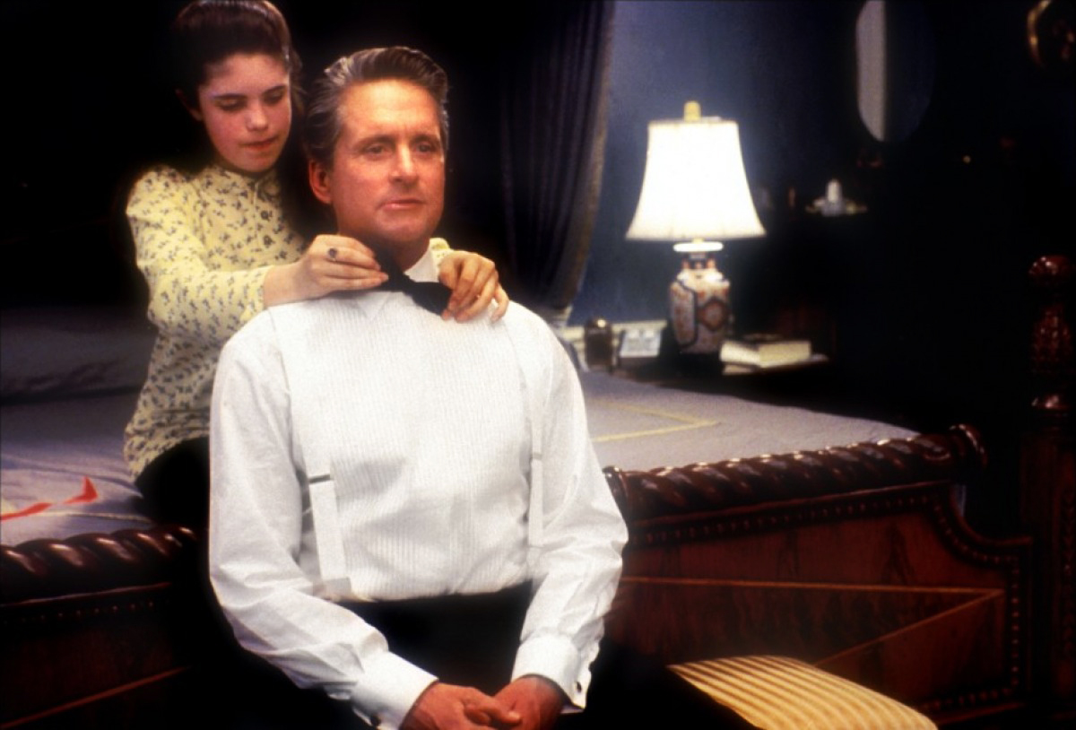 Michael Douglas as Andrew Shepherd in The American President, 1995.