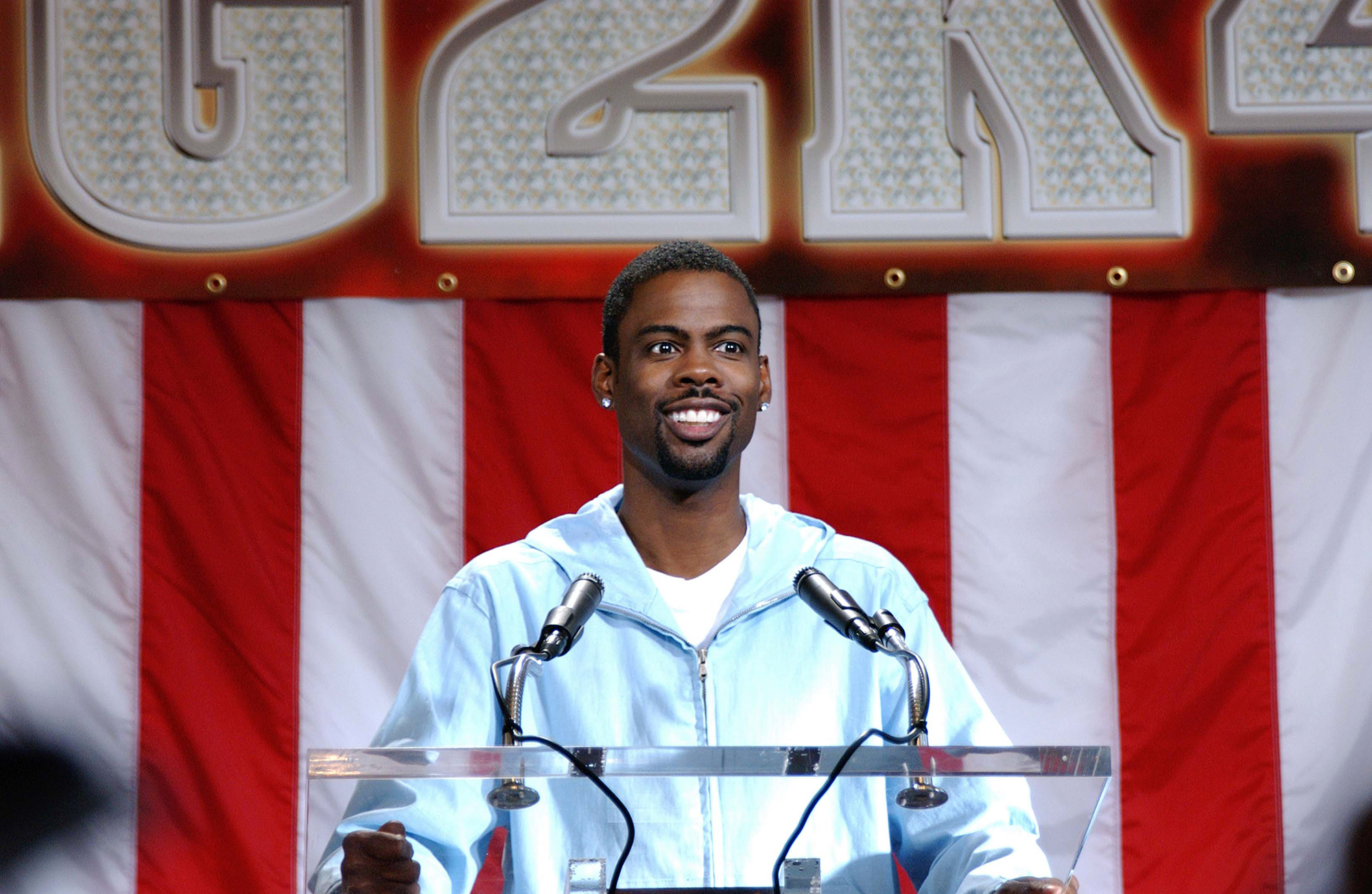 Chris Rock as Mays Gilliam in Head of State, 2003.