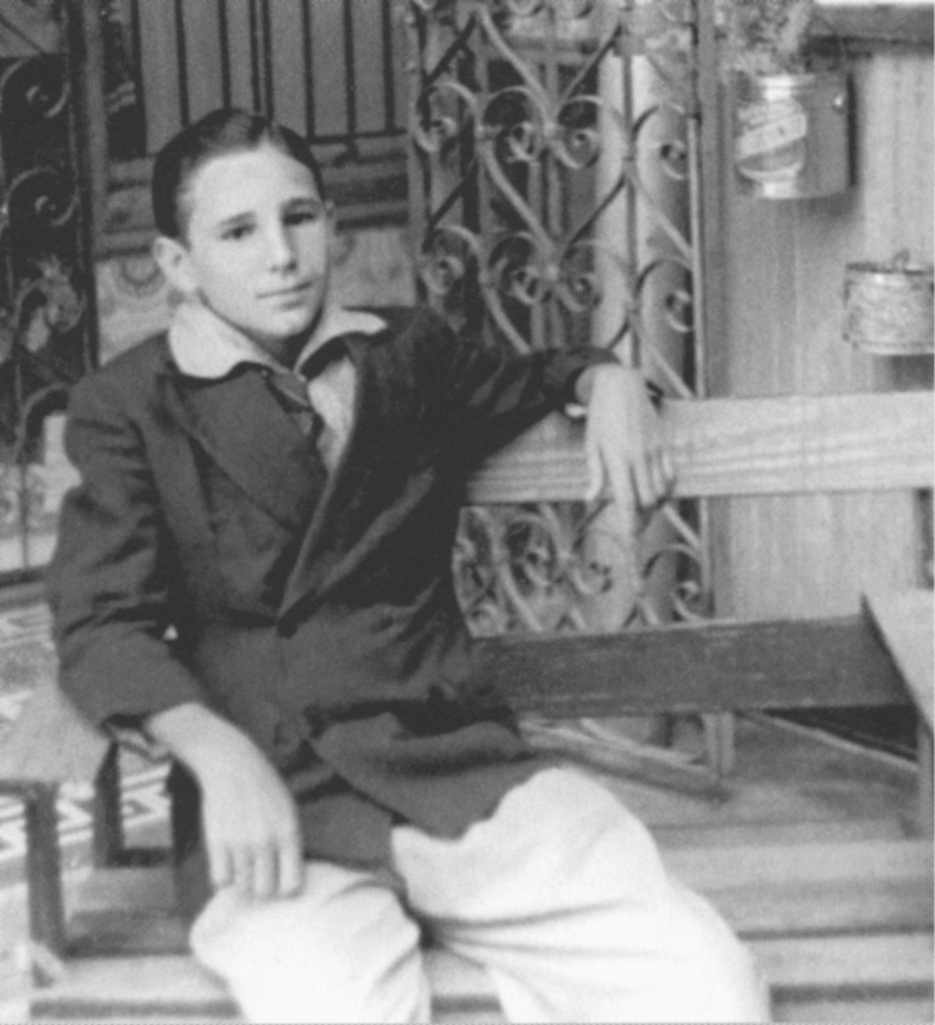 Fidel Castro at age 14 in Santiago de Cuba, in southern Cuba, 1940.