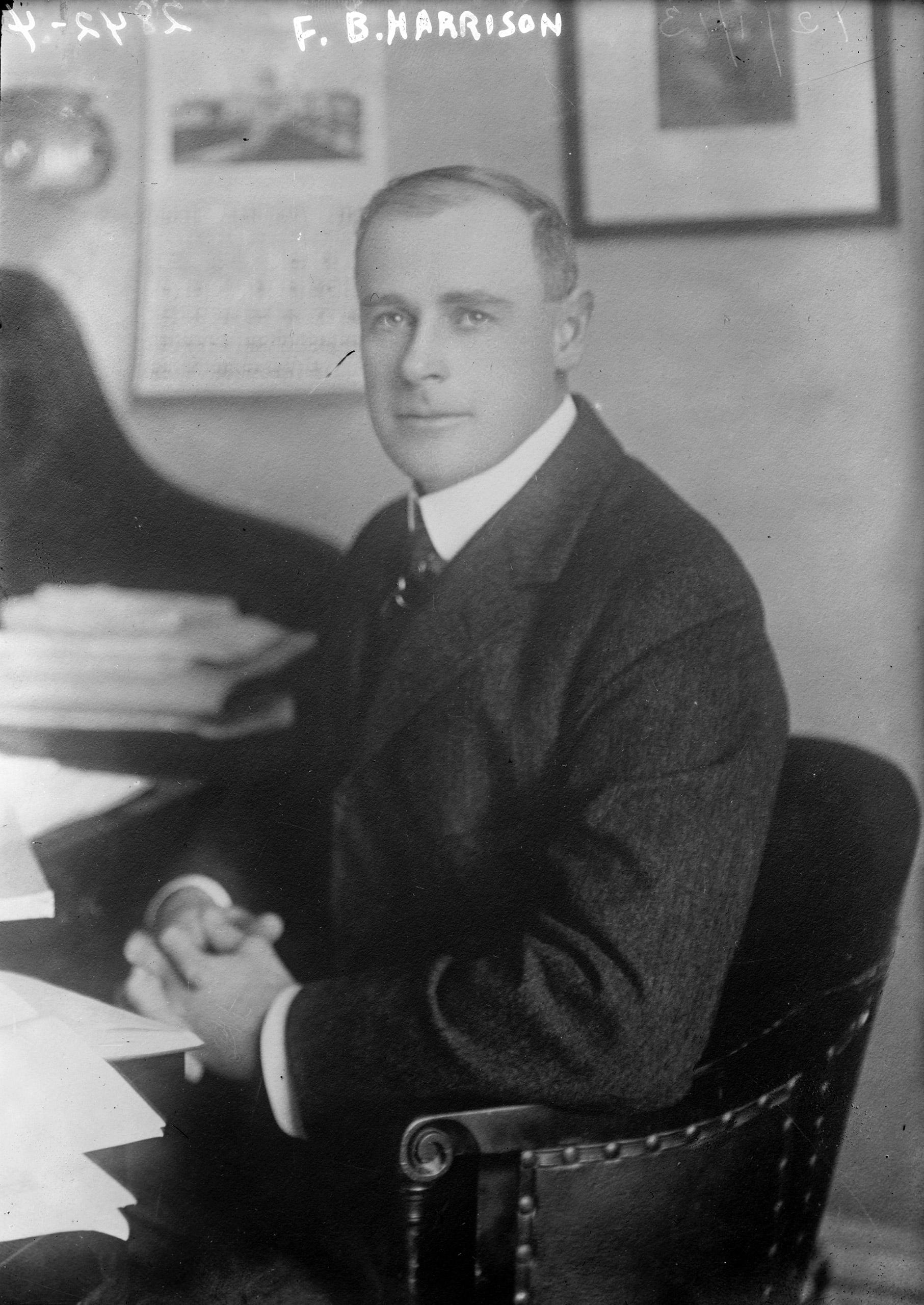 Portrait of Francis Burton Harrison, 1913.