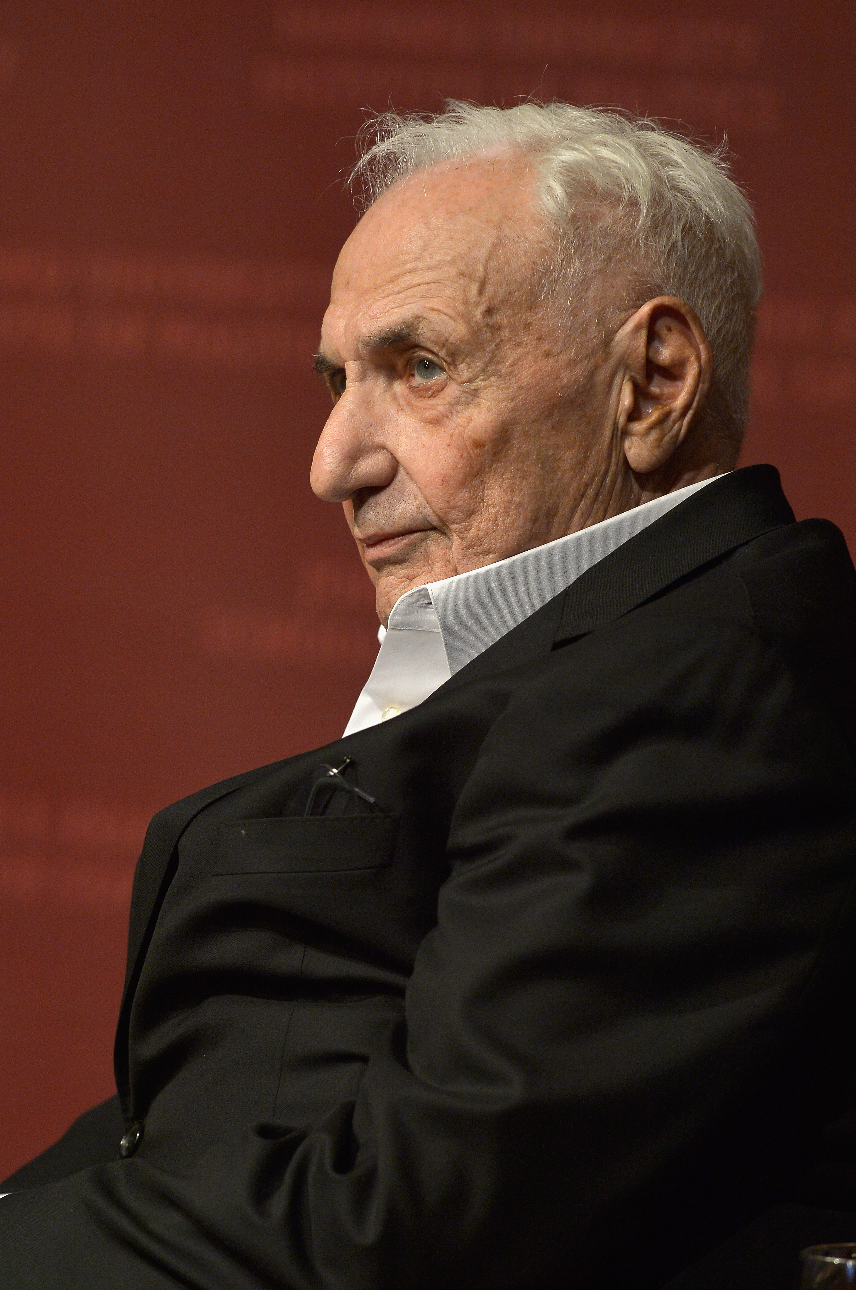 Frank Gehry during  A Conversation with Architect Frank Gehry  at Harvard University in Cambridge, Mass. on Nov. 13, 2015.