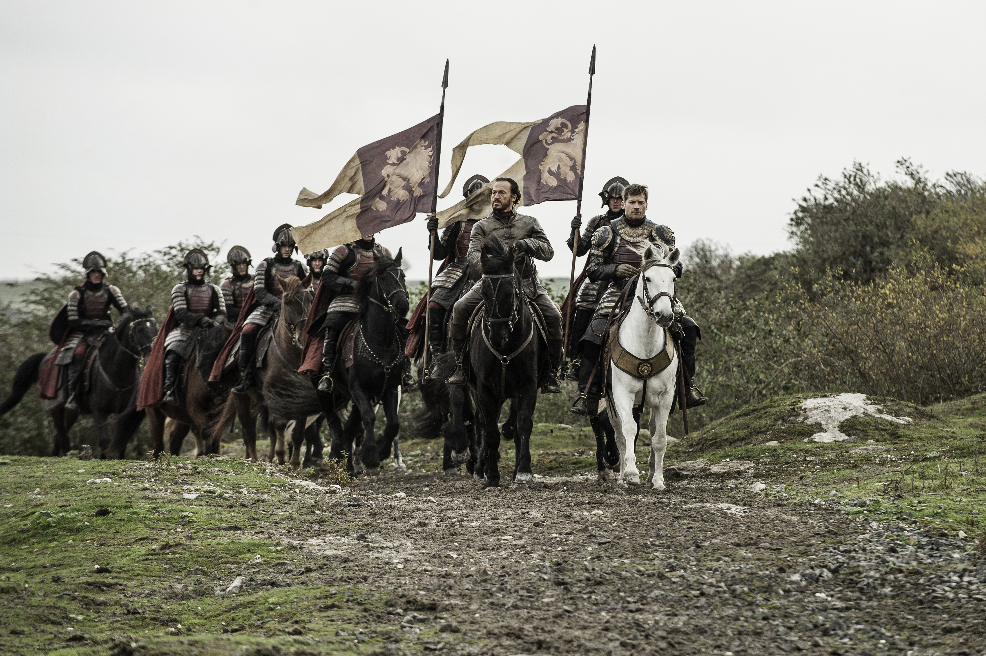 Jerome Flynn and Nikolaj Coster-Waldau. in Game of Thrones season 6, episode 10.