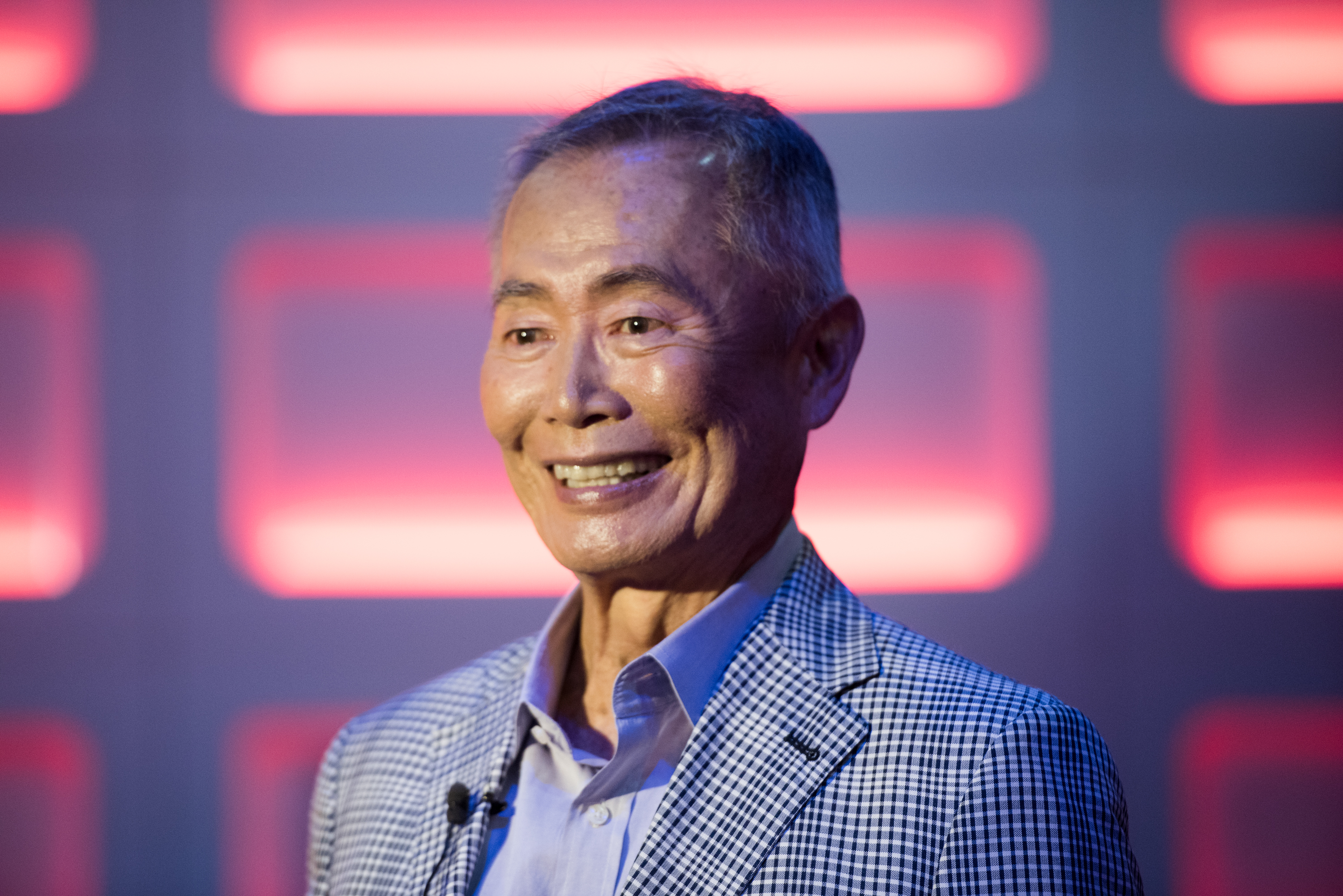 Actor George Takei attends the Star Trek: The Star Fleet Academy Experience at Intrepid Sea-Air-Space Museum on June 30, 2016 in New York.
