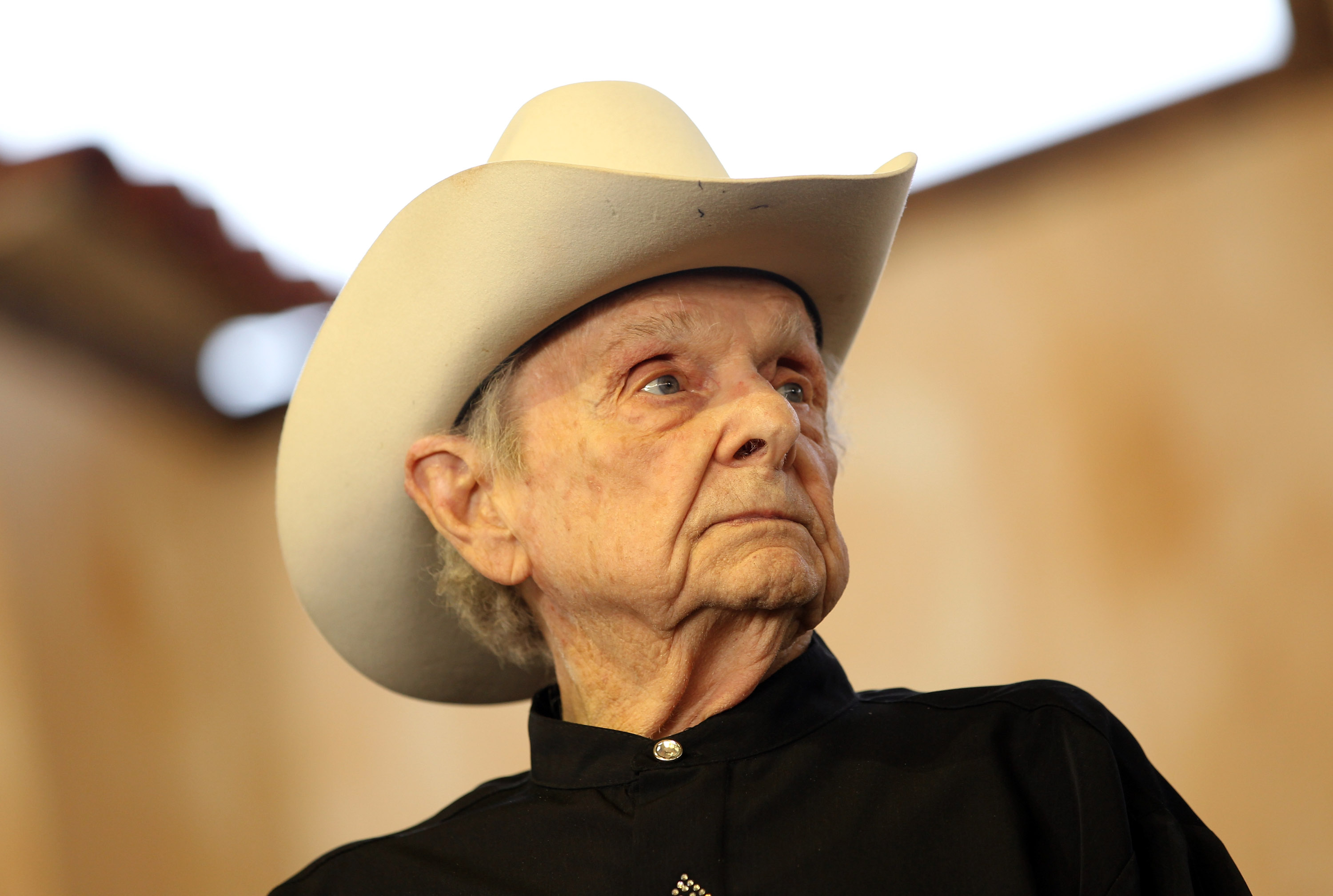 Musician Ralph Stanley performs onstage during the Stagecoach Country Music Festival on April 28, 2012 in Indio, California.