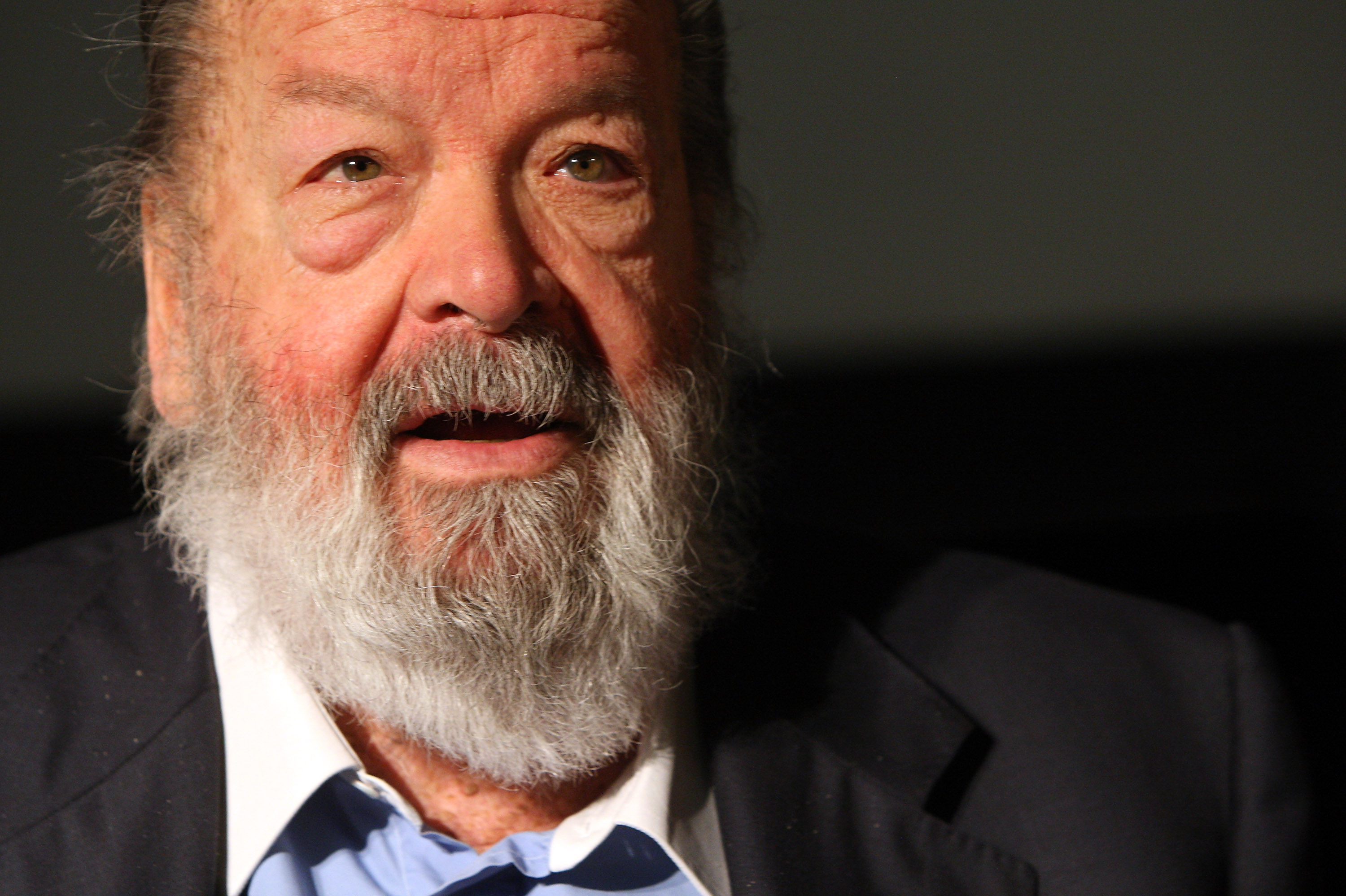 Bud Spencer, Italian actor, film producer, pilot and former professional swimmer, signs copies of the German translation of his autobiography, Mein Leben, Meine Filme (My Life, My Films) on May 17, 2013, in Potsdam, Germany
