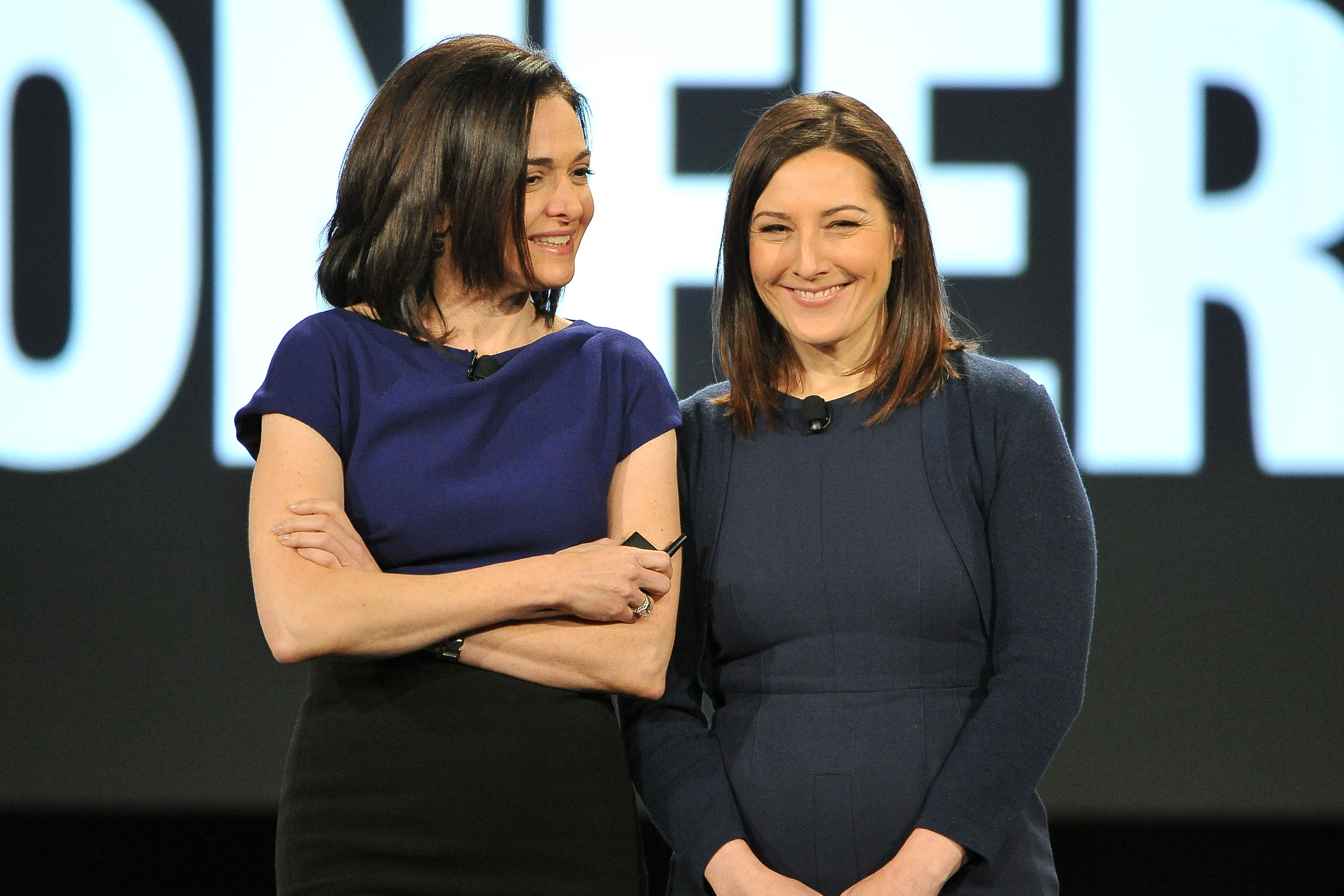 Sheryl Sandberg and Lori Goler attend AOL MAKERS Conference at Terranea Resort on February 2, 2016 in Rancho Palos Verdes, California.  (Jerod Harris--WireImage)