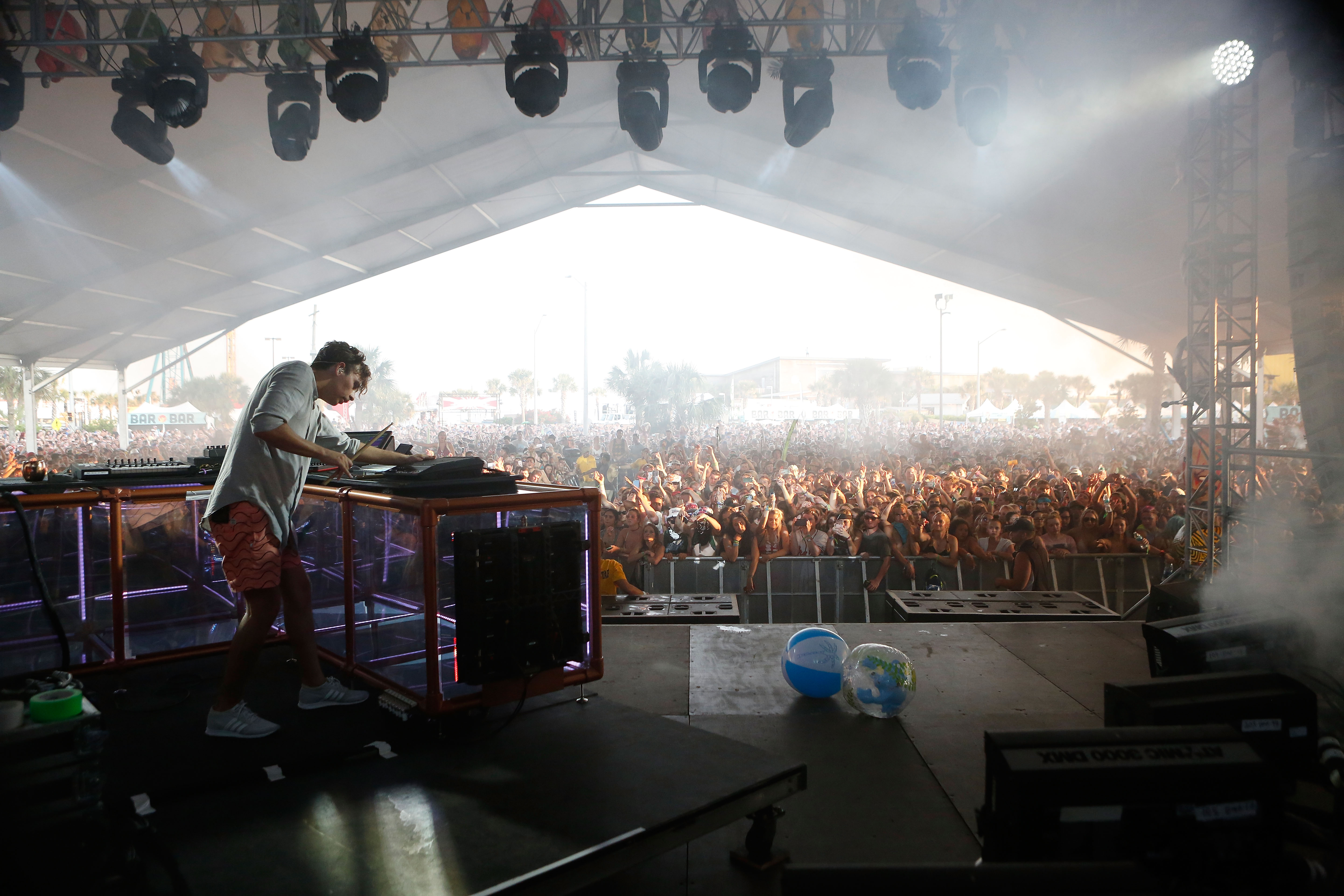 Flume performs during the 2016 Hangout Music Festival on May 22, 2016 in Gulf Shores, Alabama.