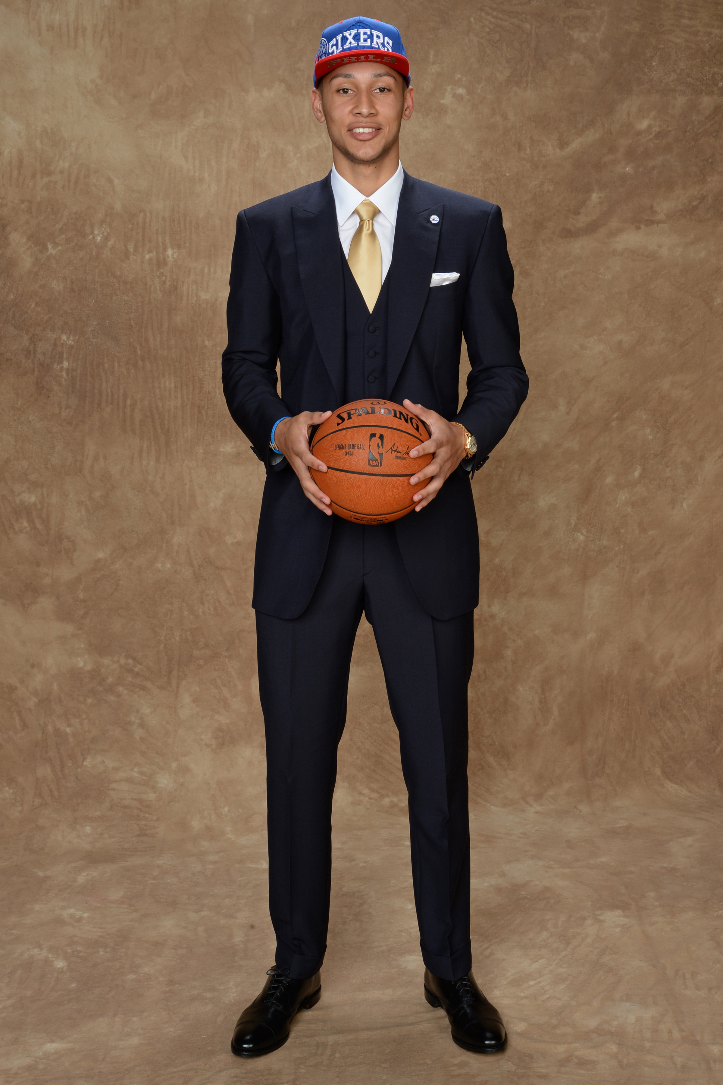 Ben Simmons was hailed as the number one pick in the draft, which was hardly diminished by his selection of a classic three piece suit.