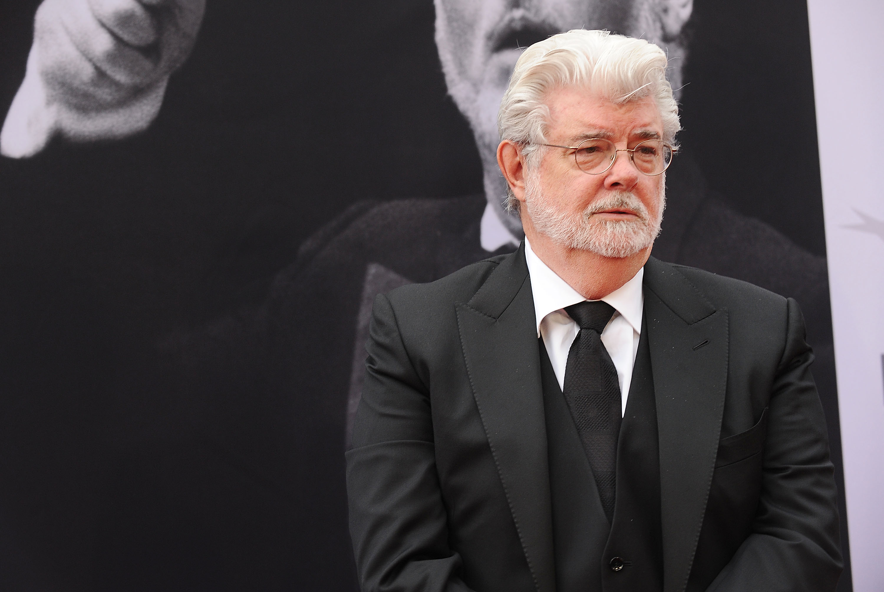Director George Lucas attends the 44th AFI Life Achievement Awards gala tribute at Dolby Theatre on June 9 in Hollywood, California.