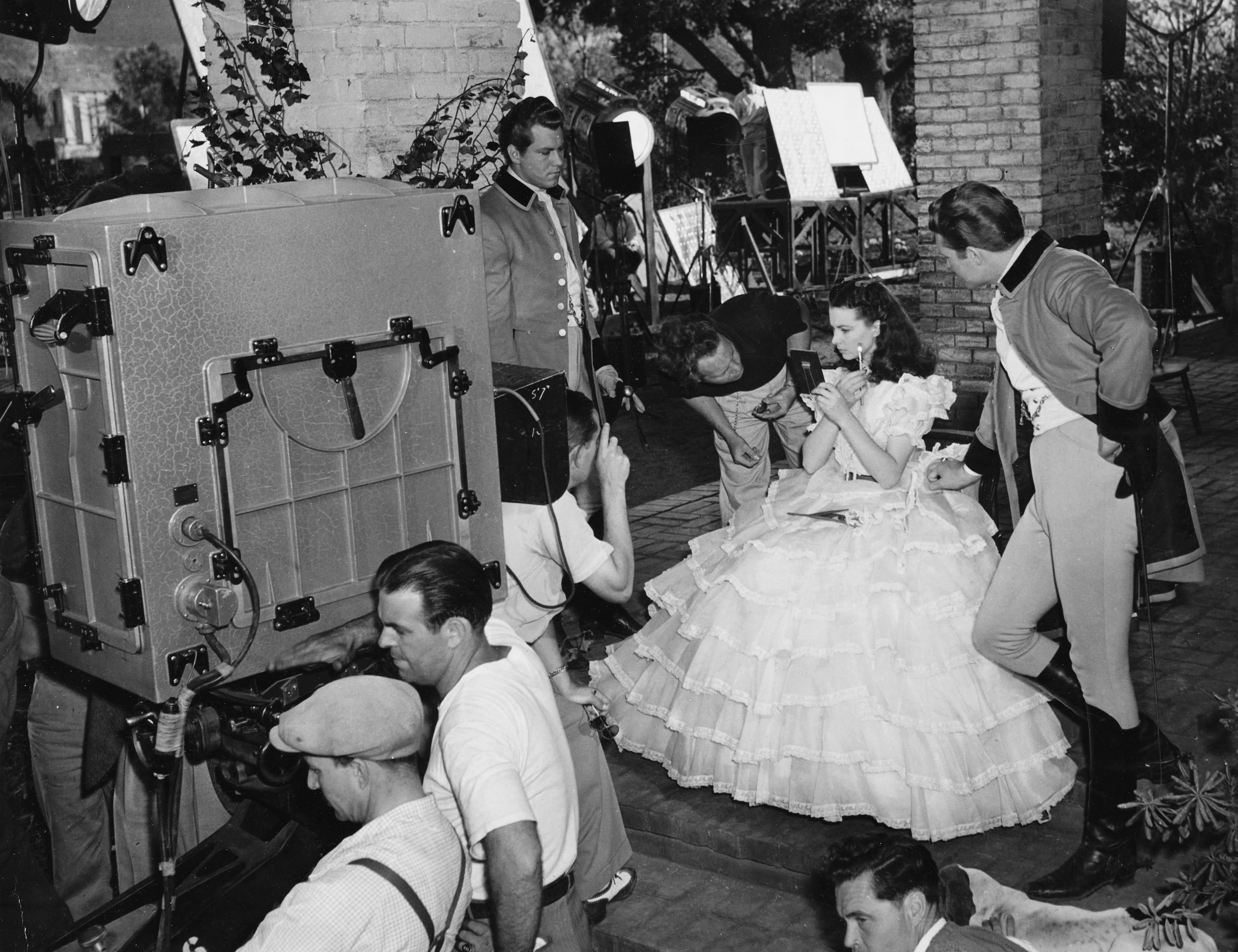 Vivien Leigh on the set of Gone with the Wind in 1939.