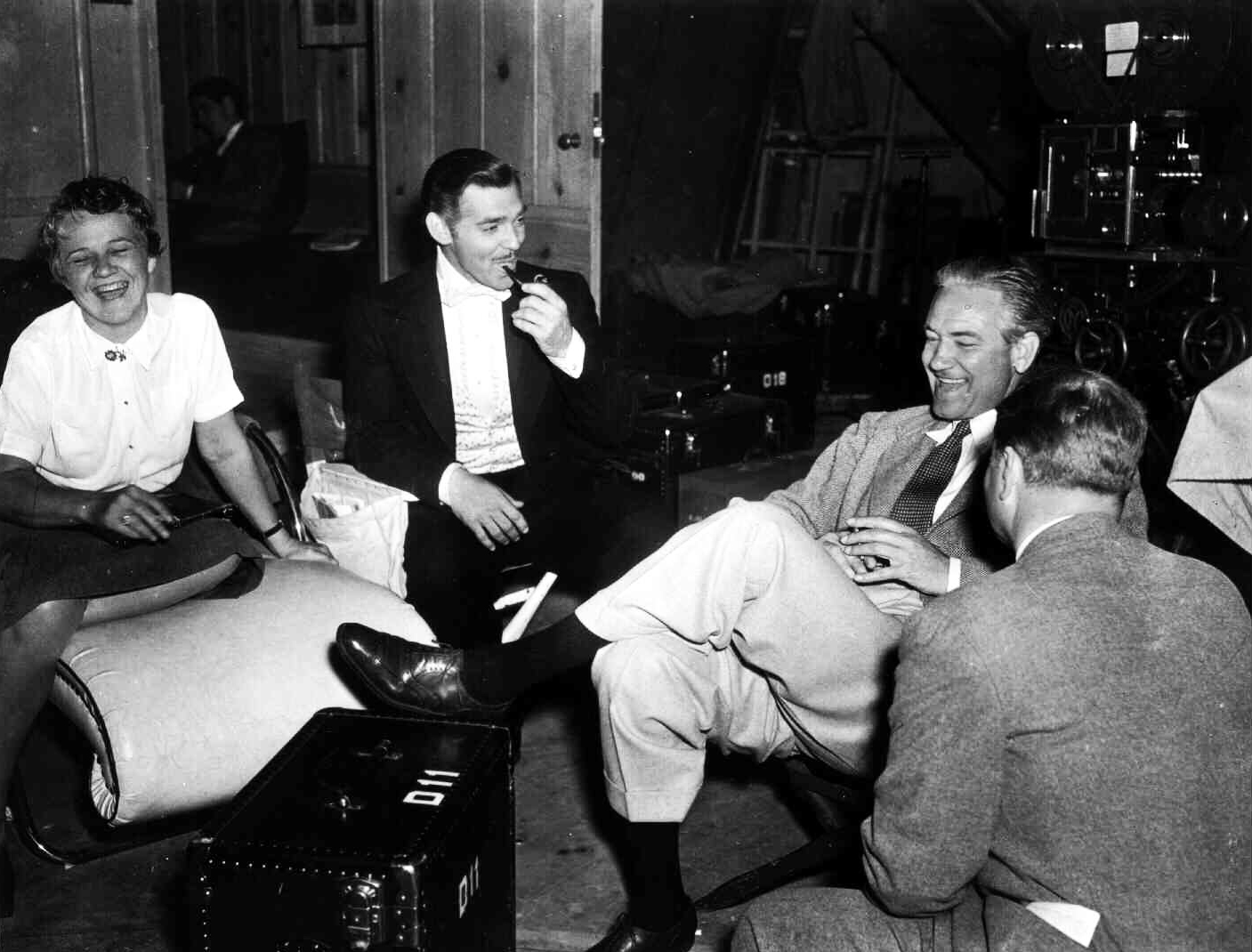 From left: Susan Myrick, Clark Gable, and Victor Fleming on the set of Gone with the Wind in 1939.