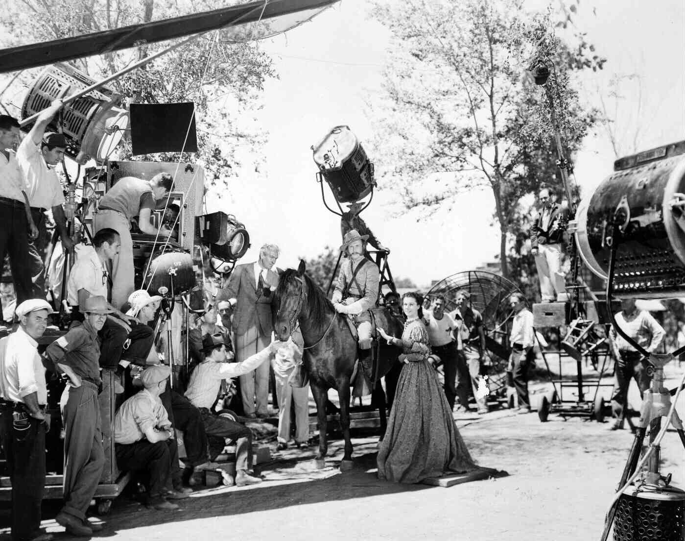 The set of Gone with the Wind in 1939.