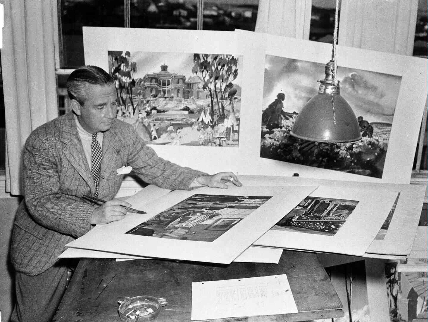 Production Designer William Cameron Menzies in 1939.