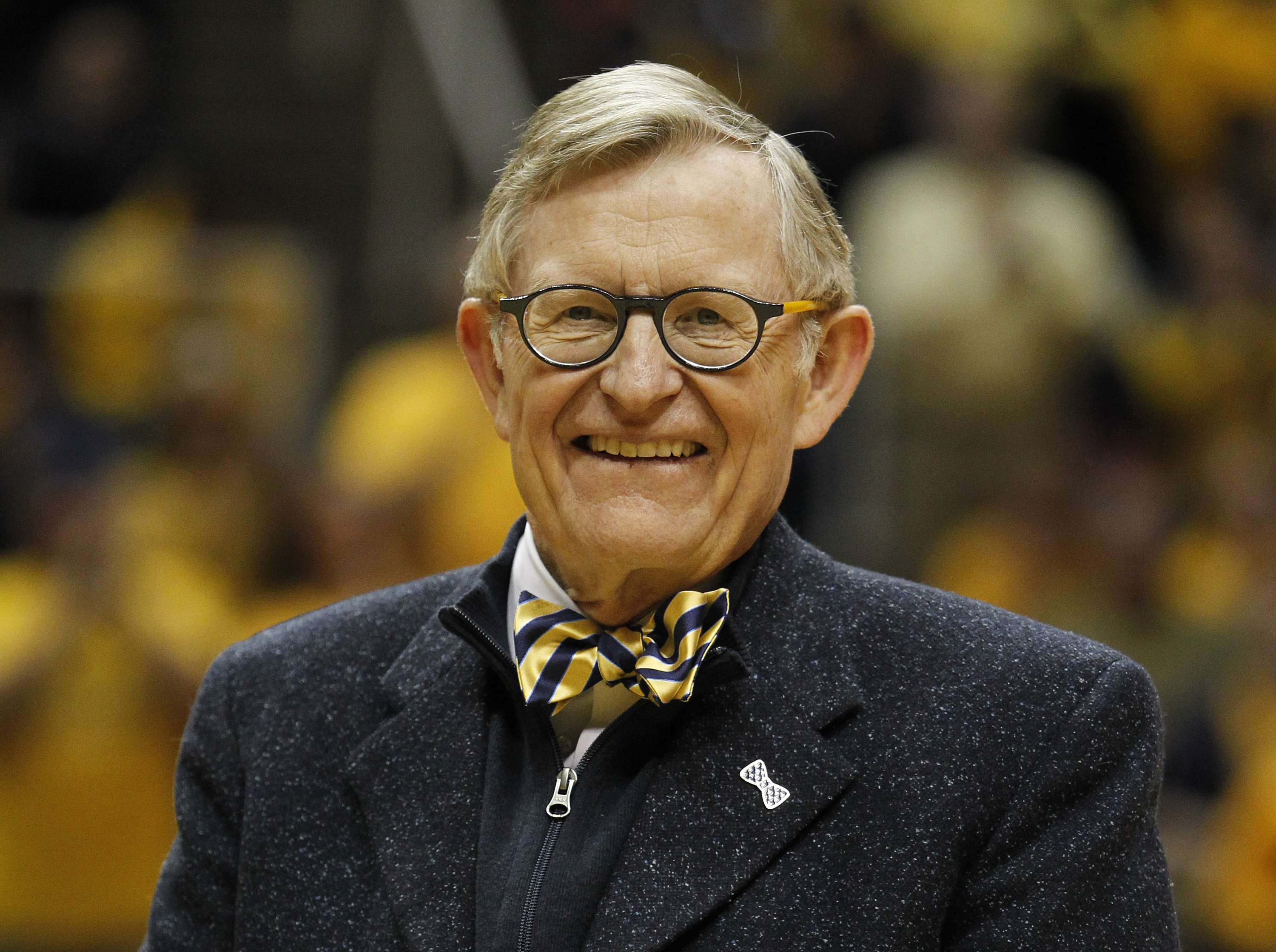 President E. Gordon Gee of the West Virginia Mountaineers at the game against the Iowa State Cyclones at the WVU Coliseum in Morgantown, W.V. on Jan. 10, 2015.