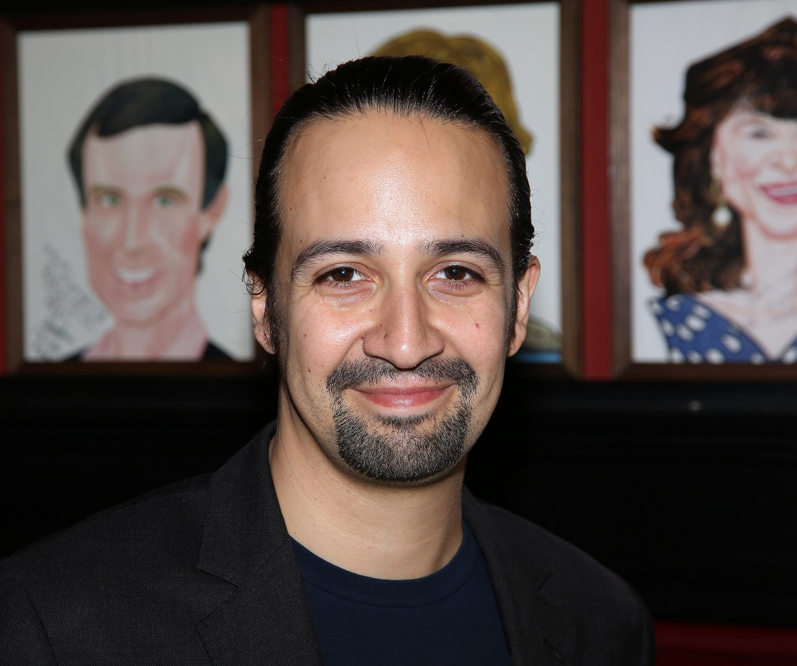 Lin-Manuel Miranda attends the Lin-Manuel Miranda 'Hamilton' Sardi's Portrait unveiling at Sardi's on May 19, 2016 in New York City.