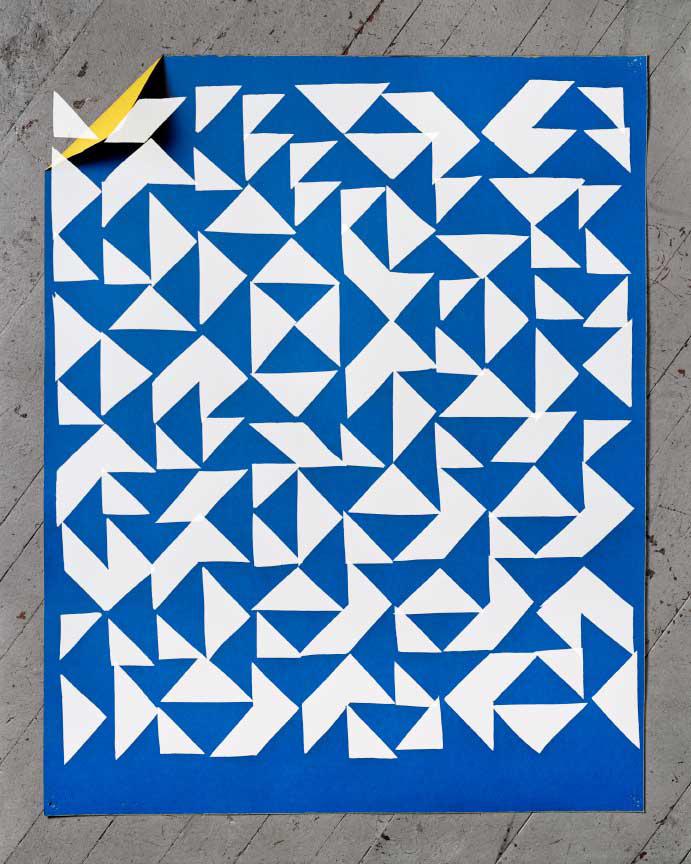 Blue Paper (Albers), 2014