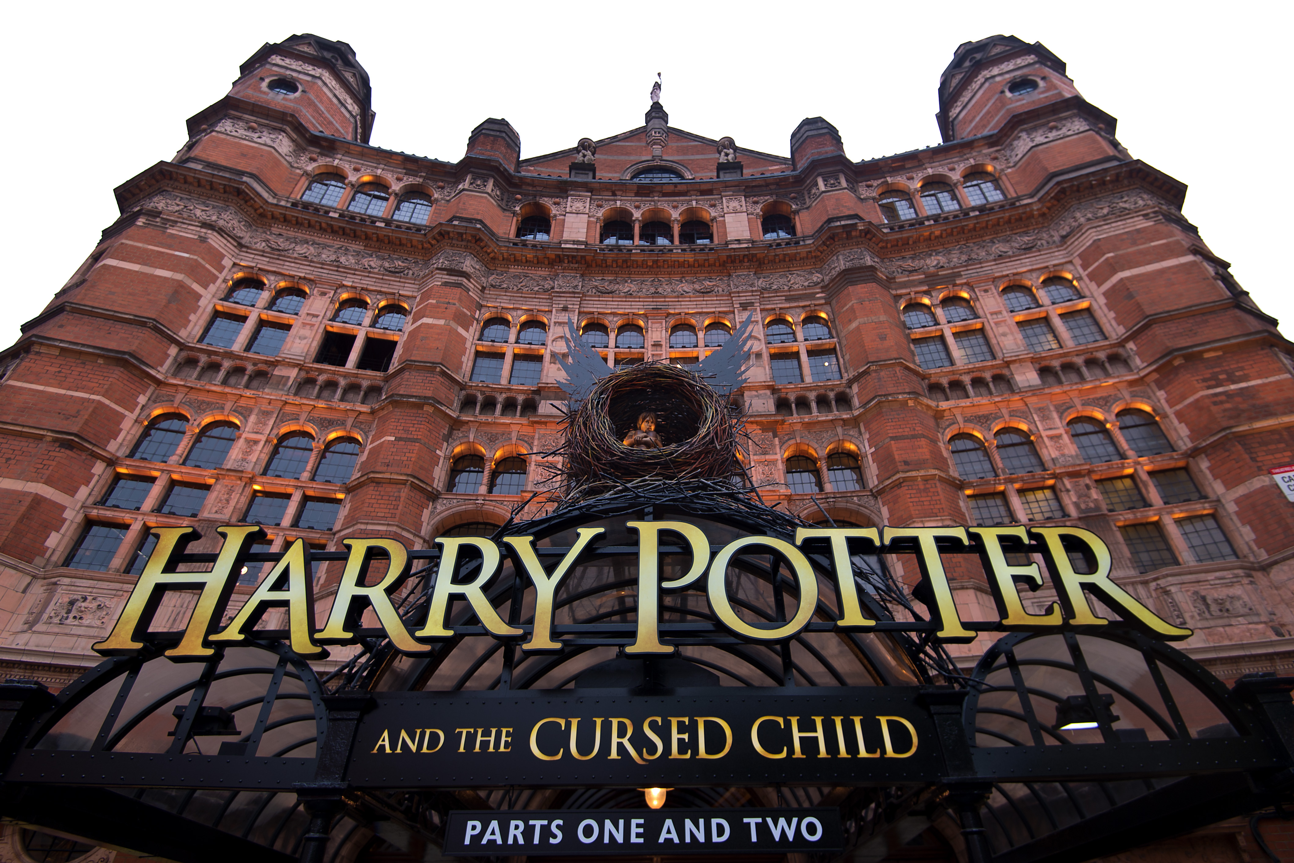 A general view of The Palace Theatre as previews start today for  Harry Potter and the Cursed Child  on June 7, 2016 in London, United Kingdom.