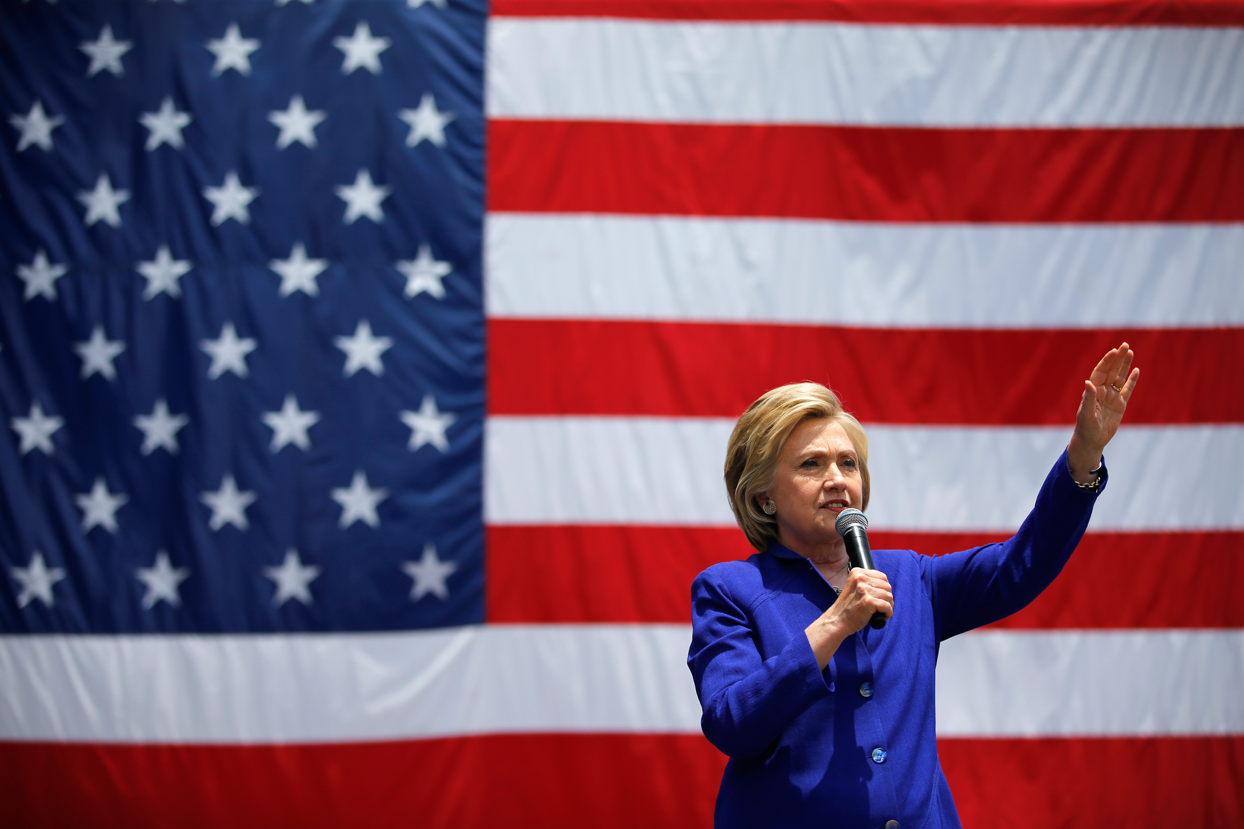 Democratic presidential candidate Hillary Clinton speaks at a rally in Lynwood, Calif., June 6, 2016.