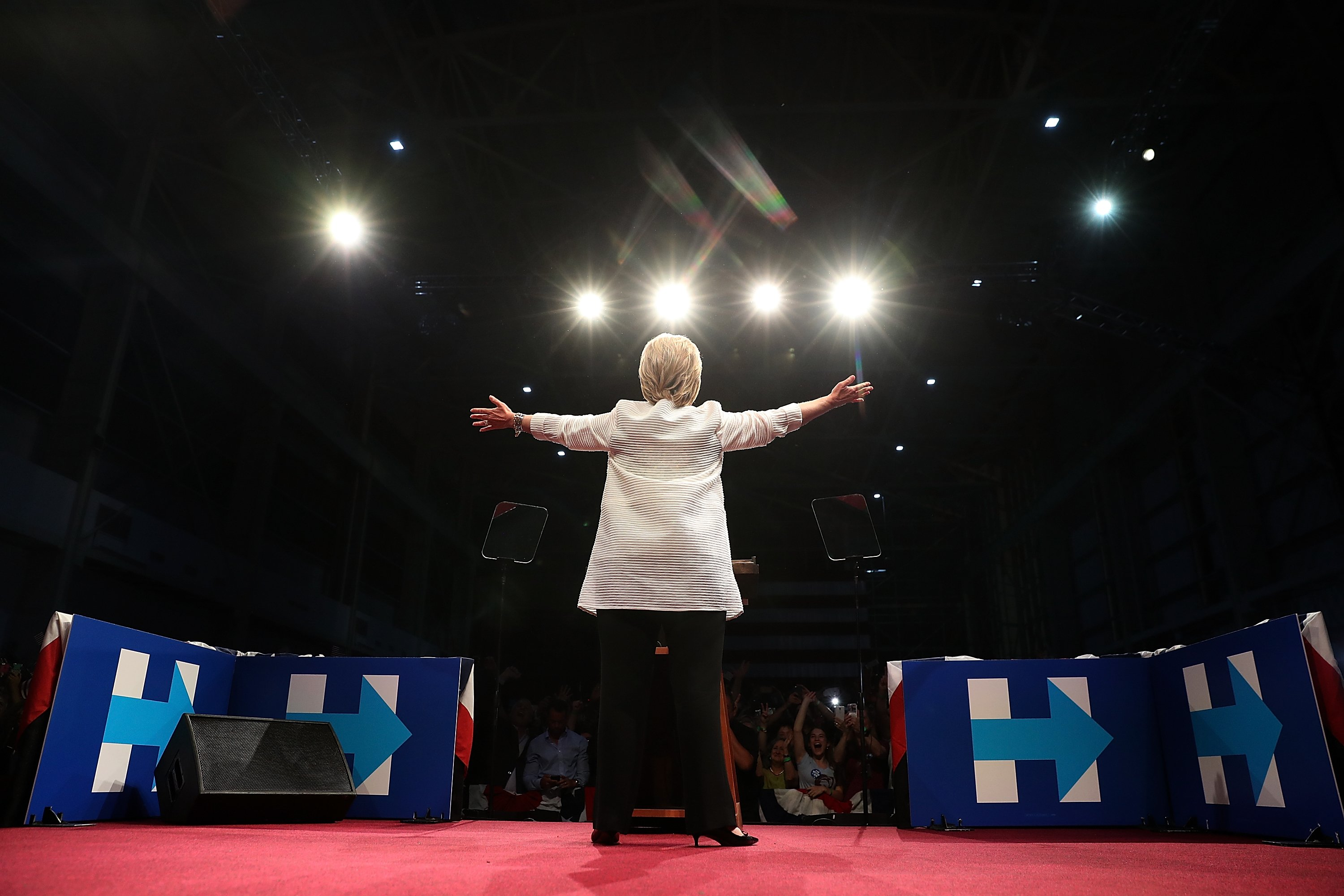 Democratic presidential candidate, former Secretary of State Hillary Clinton speaks during a primary night event on June 7, 2016 in Brooklyn, New York.