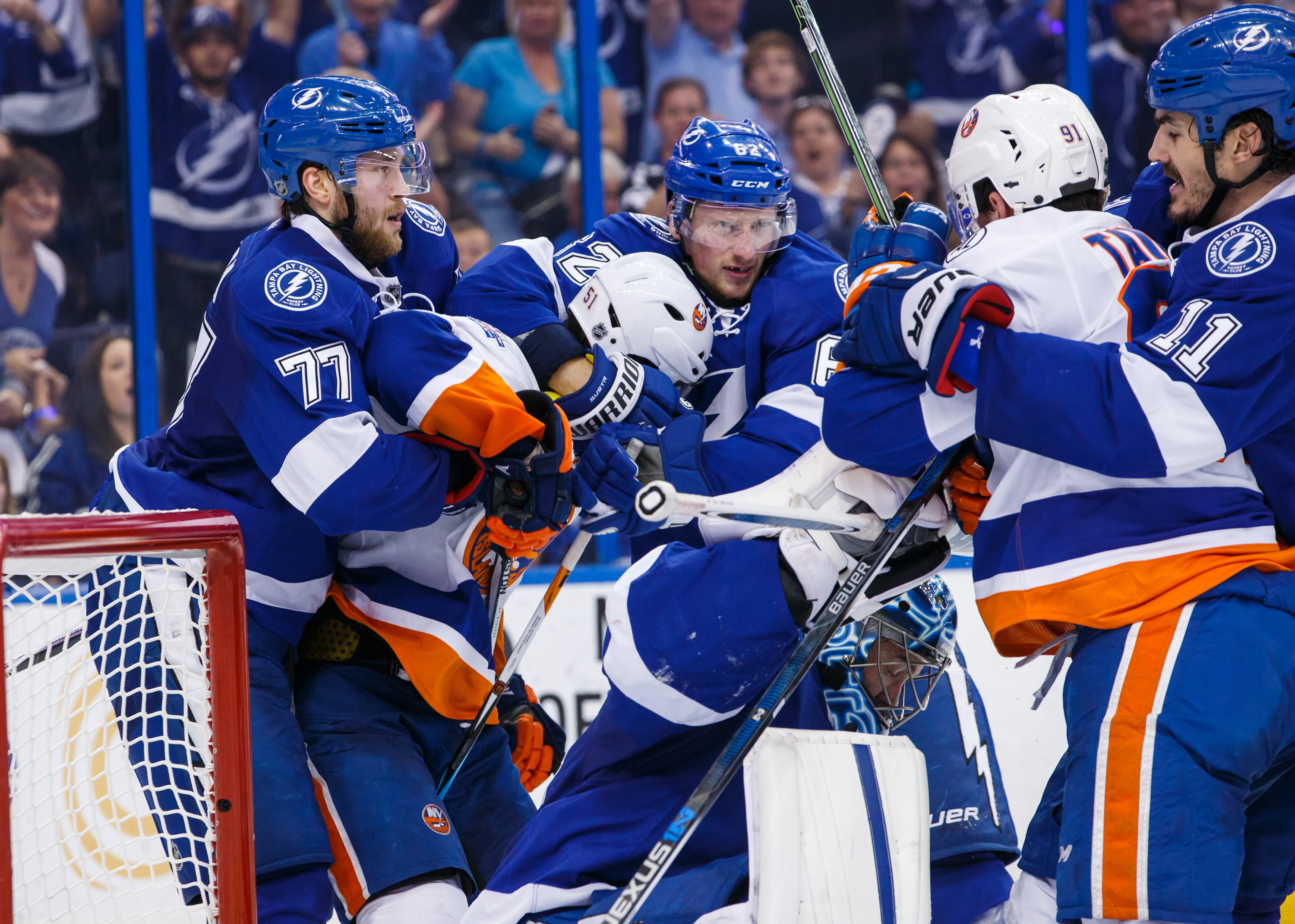Blood on the ice: The New York Islanders and the Tampa Bay Lightning brawl during the 2016 NHL playoffs