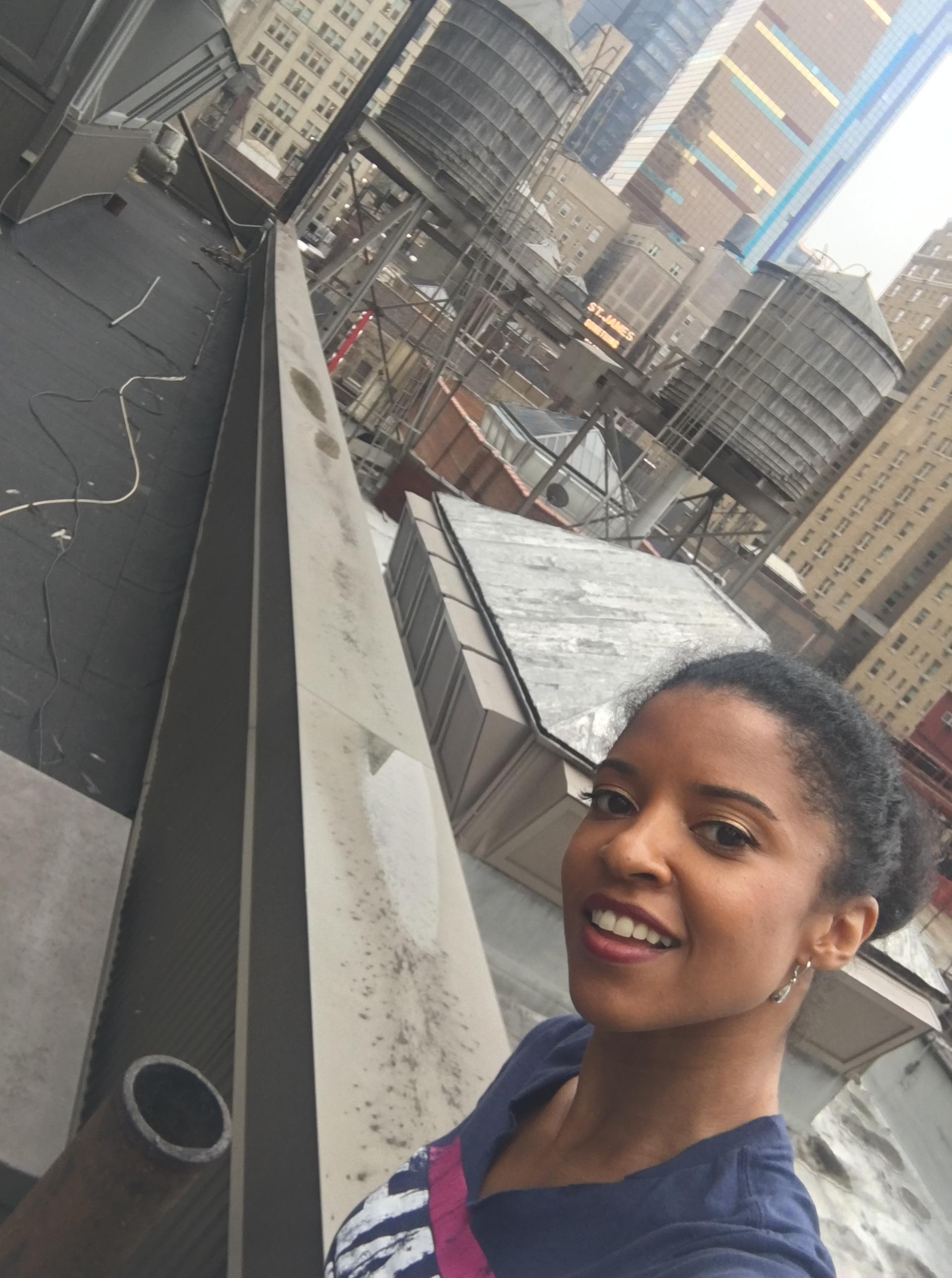 Selfie courtesy Renée Elise Goldsberry