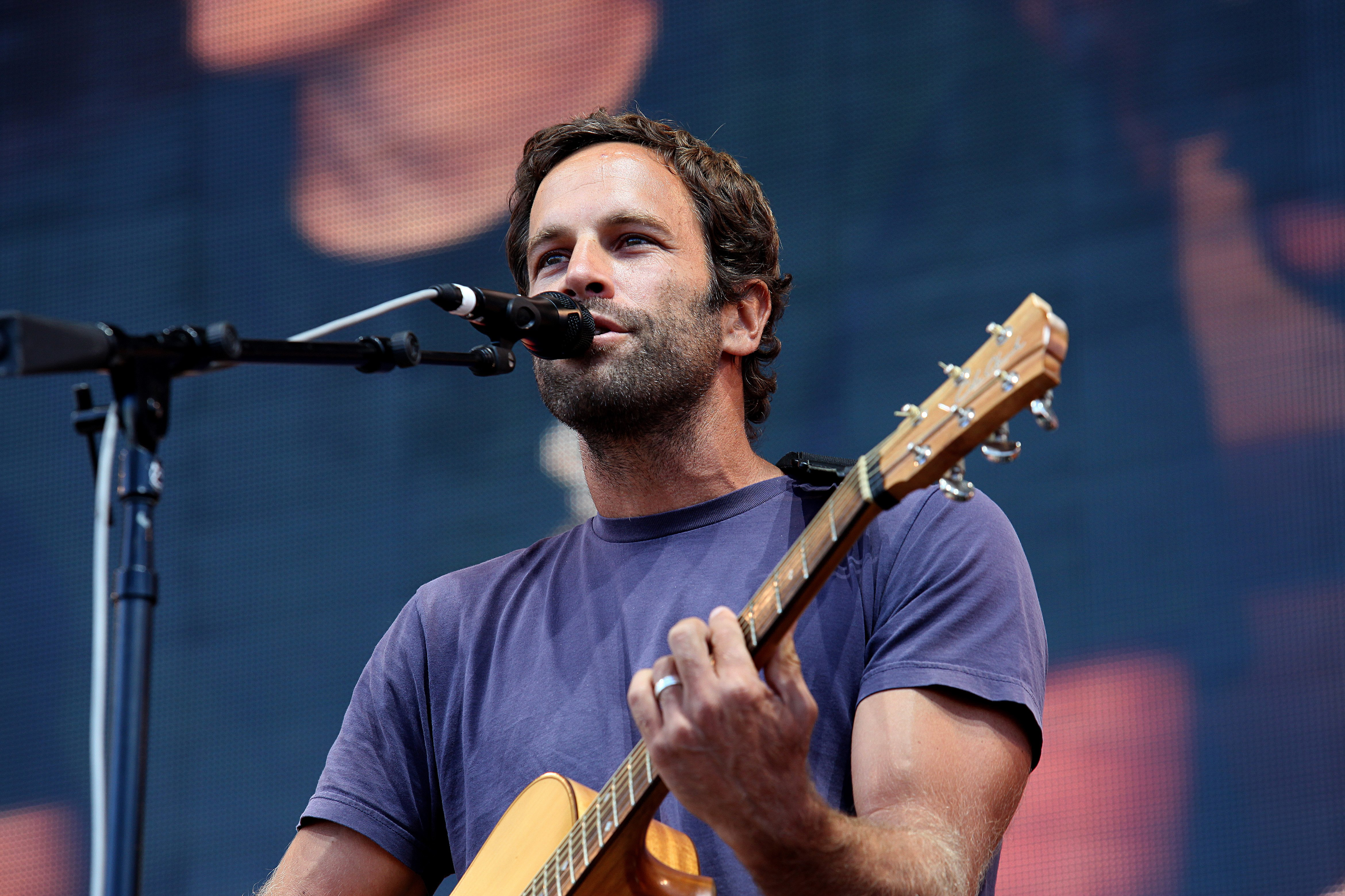 Jack Johnson performs at FirstMerit Bank Pavilion at Northerly Island during 'Farm Aid 30' in Chicago on Sept. 19, 2015.