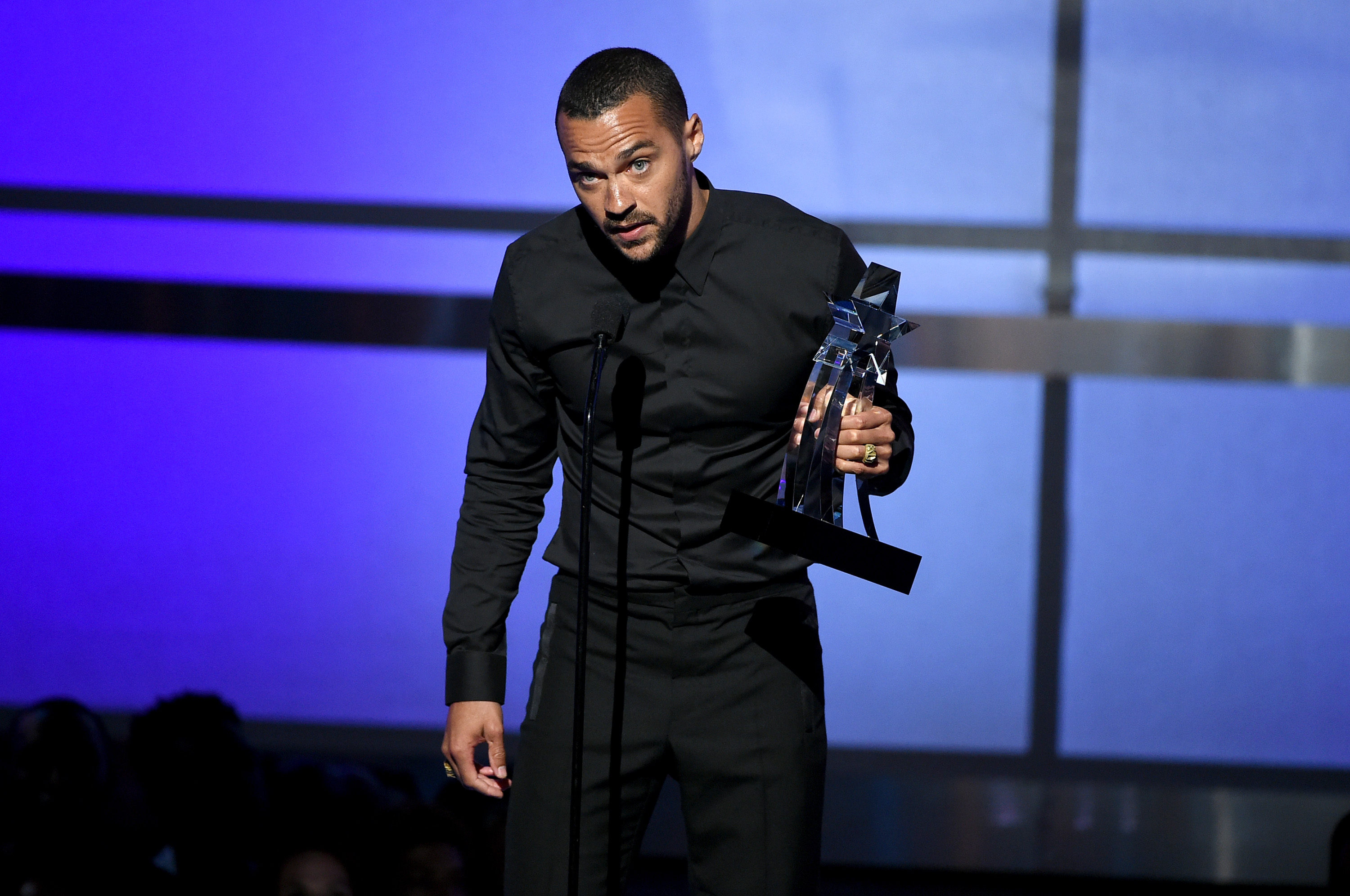 Honoree Jesse Williams accepts the Humanitarian Award onstage during the 2016 BET Awards at the Microsoft Theater on June 26 in Los Angeles, California.