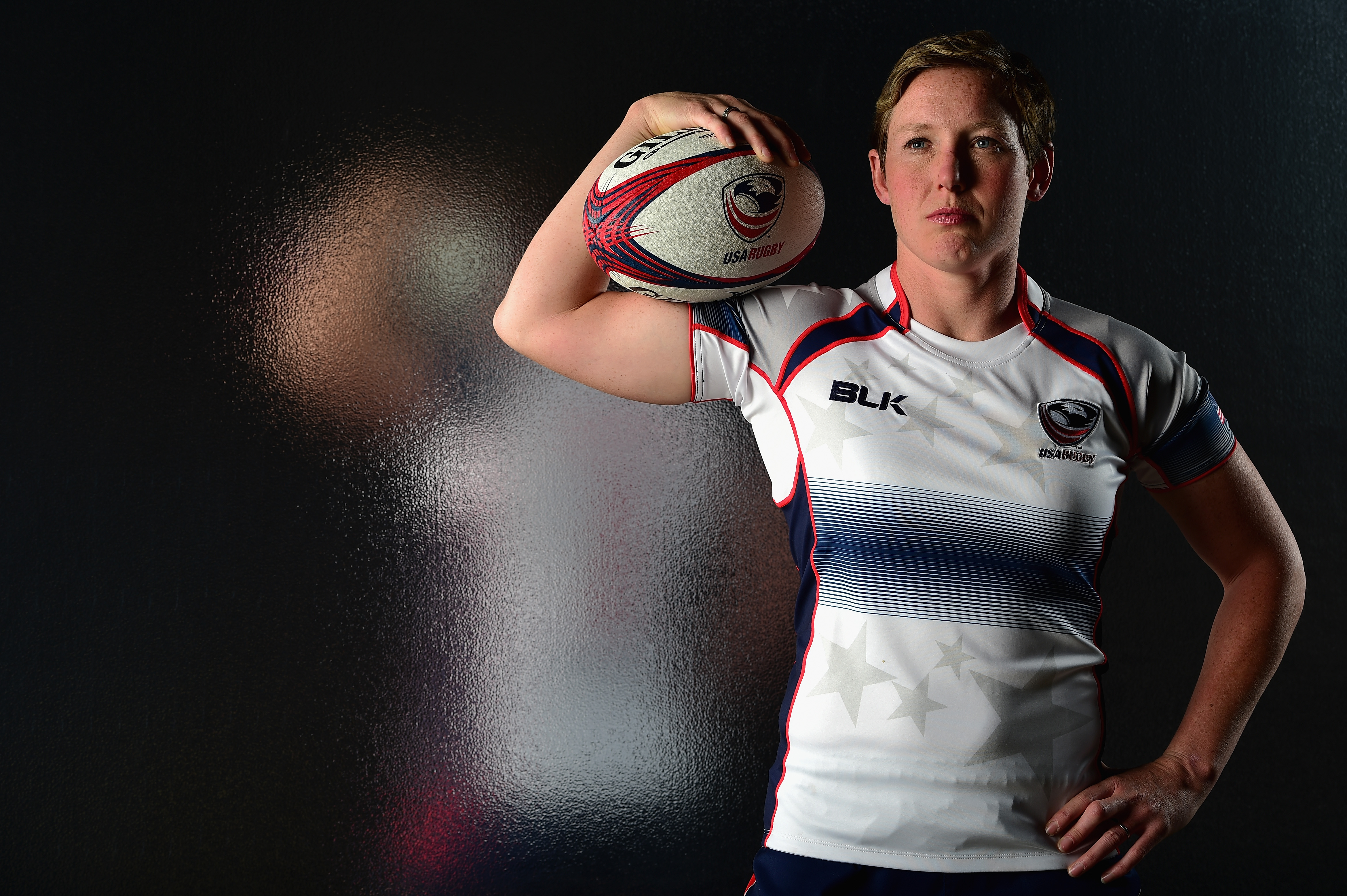 Rugby player Jillion Potter poses for a portrait at the USOC Rio Olympics Shoot at Quixote Studios on November 17, 2015 in Los Angeles, California.