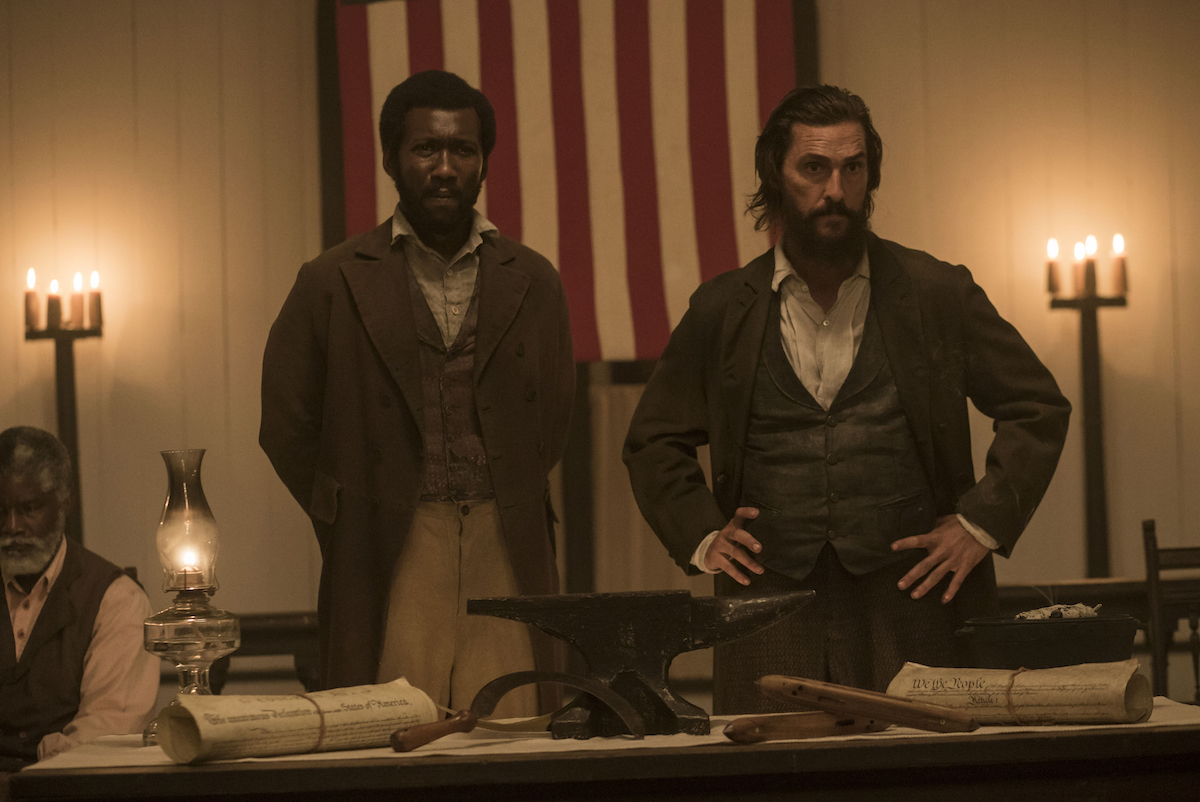 Mahershala Ali andMatthew McConaughey star in FREE STATE OF JONES