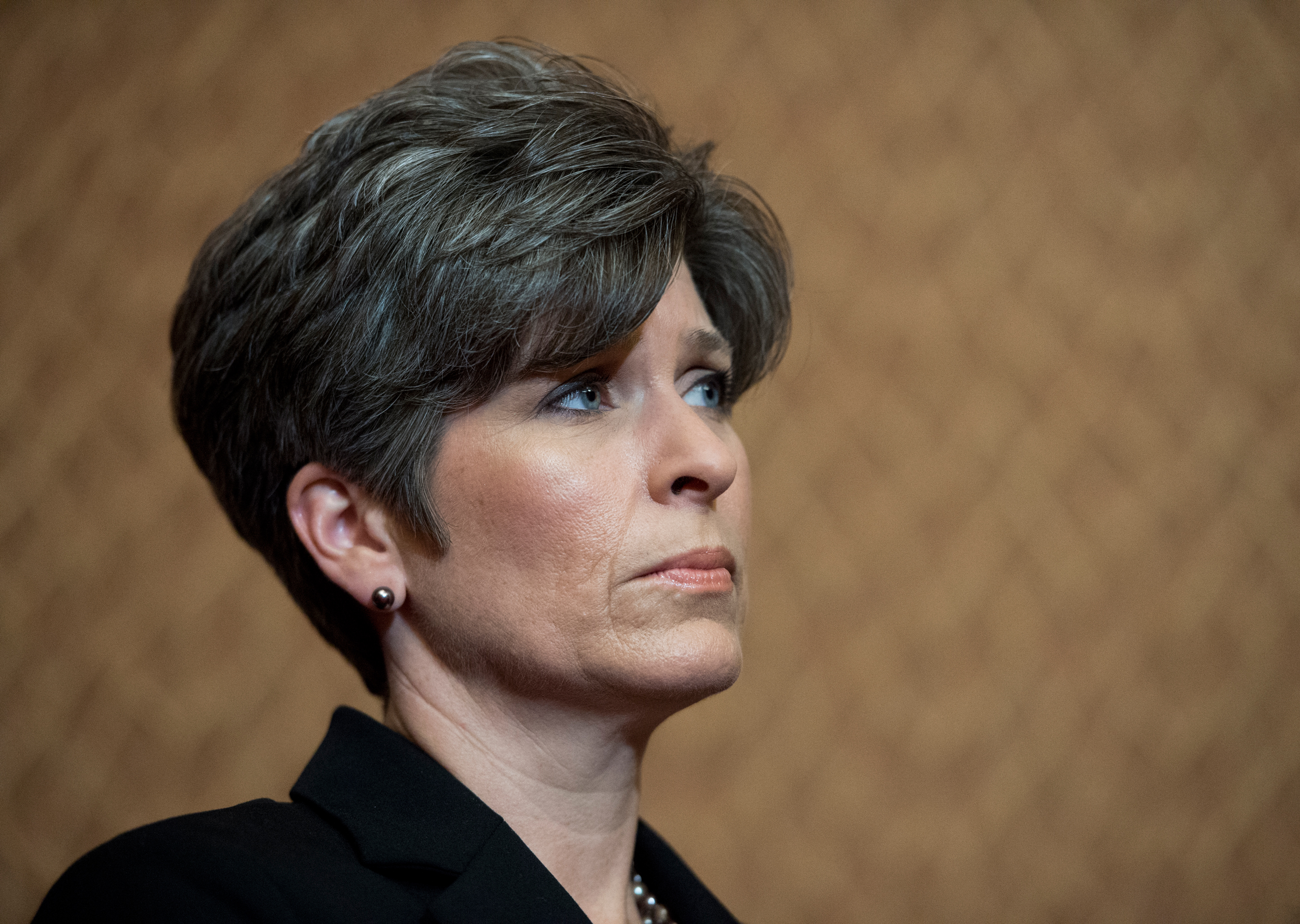 Sen. Joni Ernst participates in the news conference with survivors of sexual assault to urge the Senate to pass the Campus Accountability and Safety Act April 26, 2016.