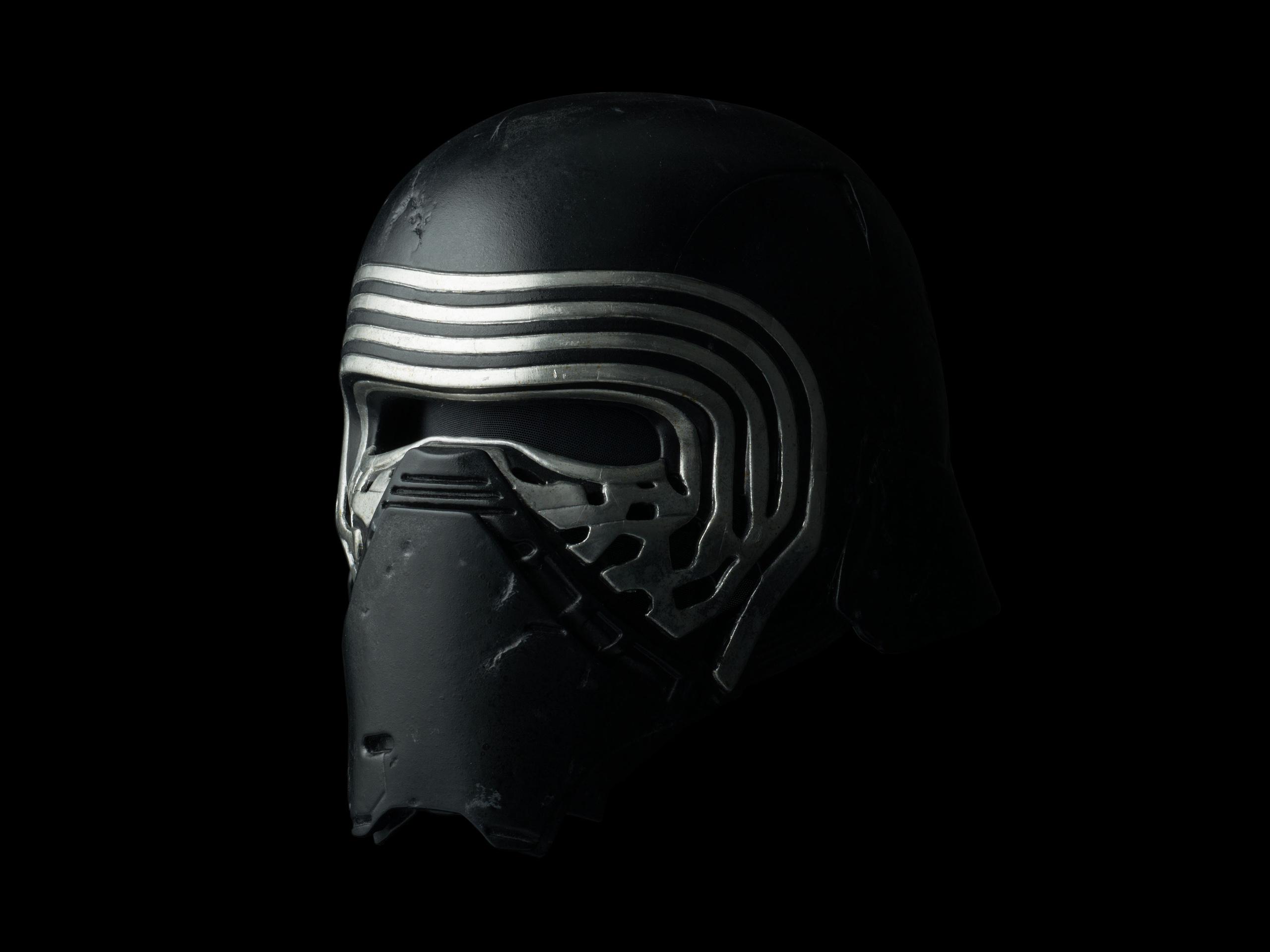 A replica of Kylo Ren's helmet.