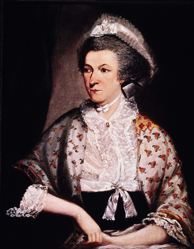 Abigail Adams (1744-1818), Portrait by Mather Brown, 1785.