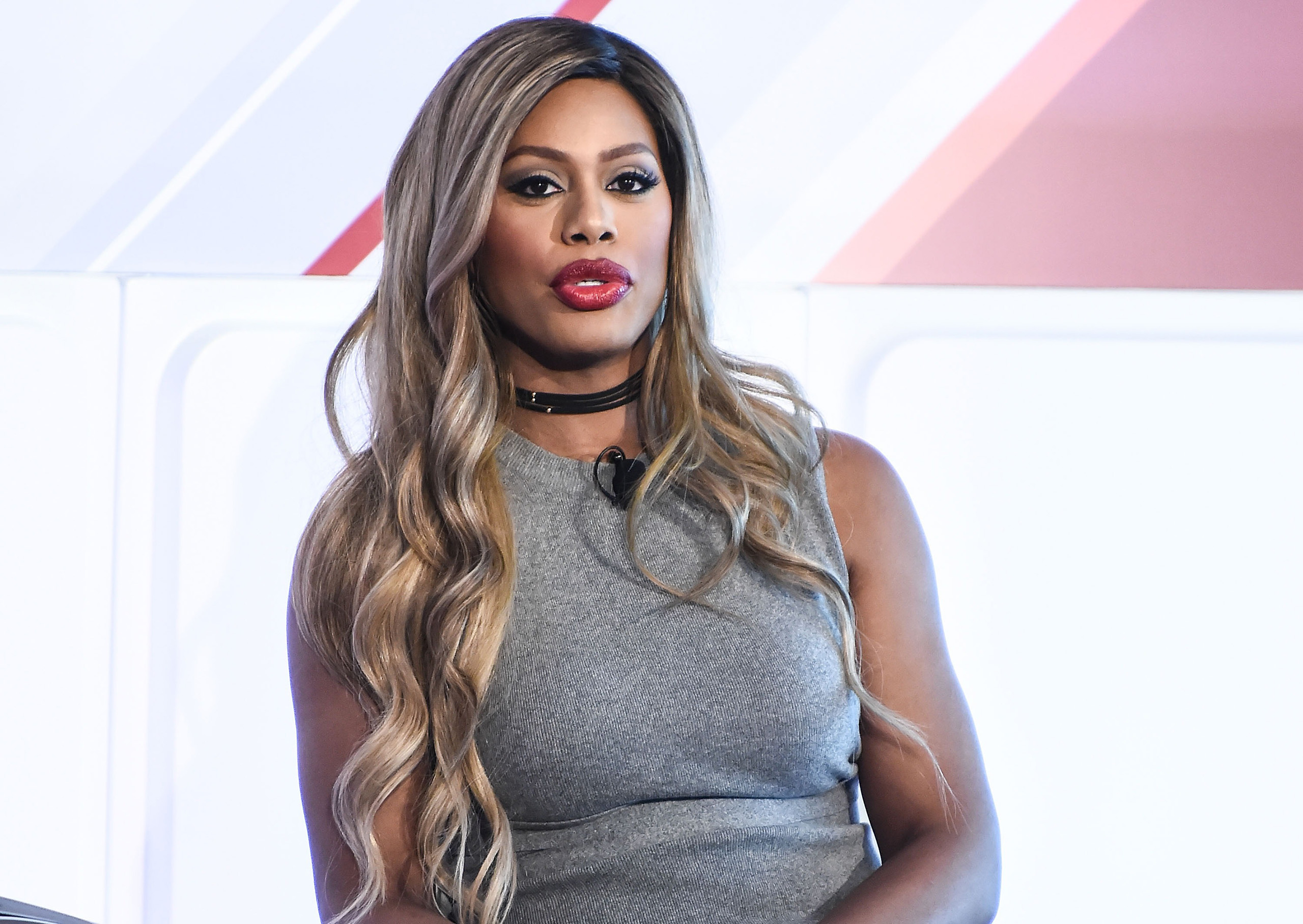 Laverne Cox speaks onstage during the 2016 Forbes Women's Summit in New York on May 12, 2016.