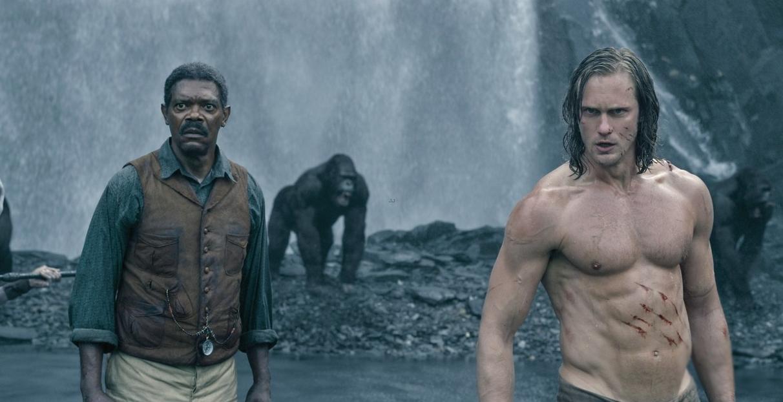Samuel L. Jackson and Alexander Skarsgård in The Legend of Tarzan.